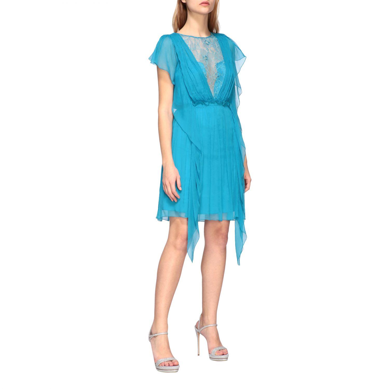Buy Alberta Ferretti Dress Alberta Ferretti Dress In Chiffon And Lace online, shop Alberta Ferretti with free shipping