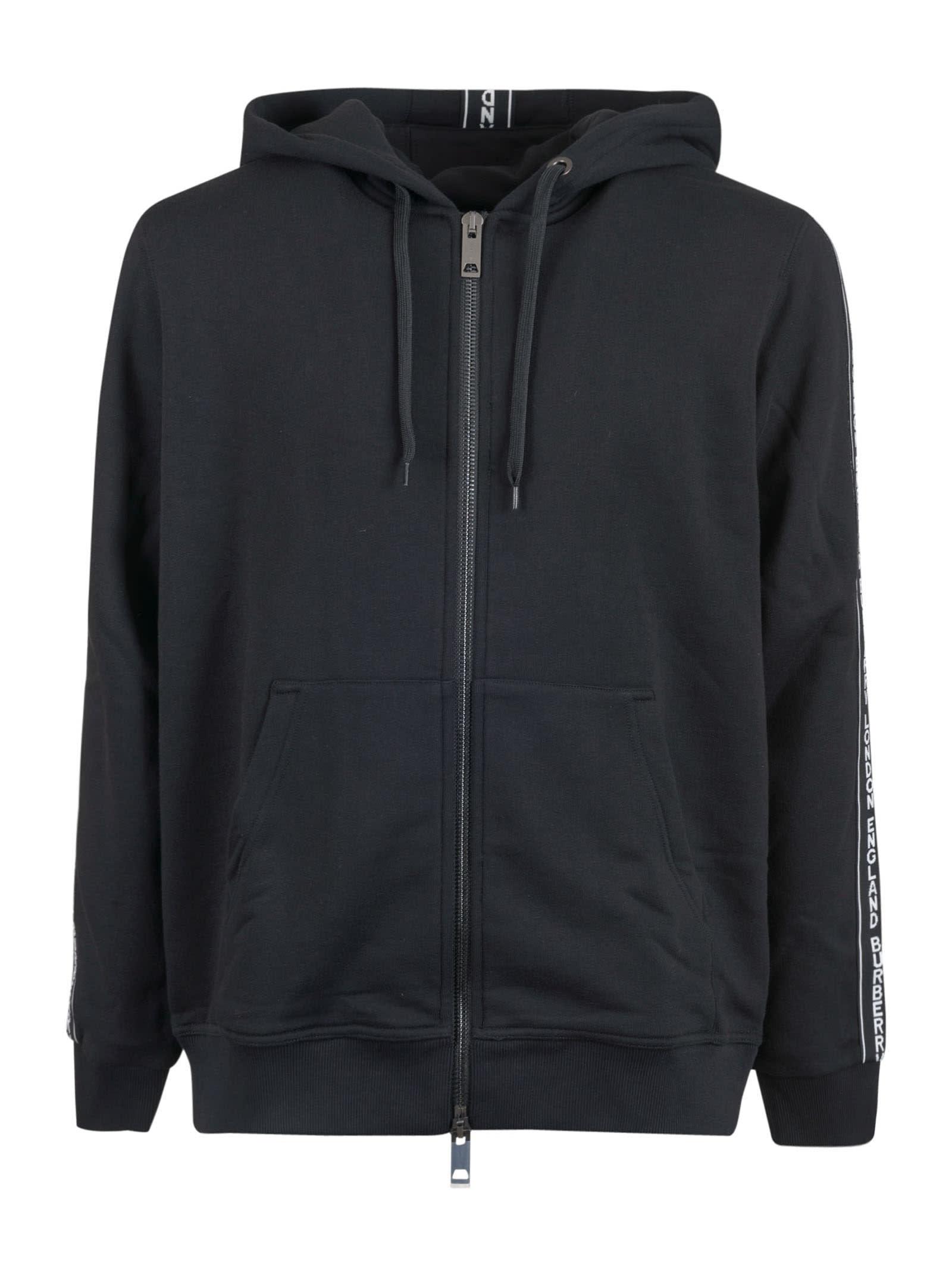 Burberry Sleeve Logo Zip Hoodie