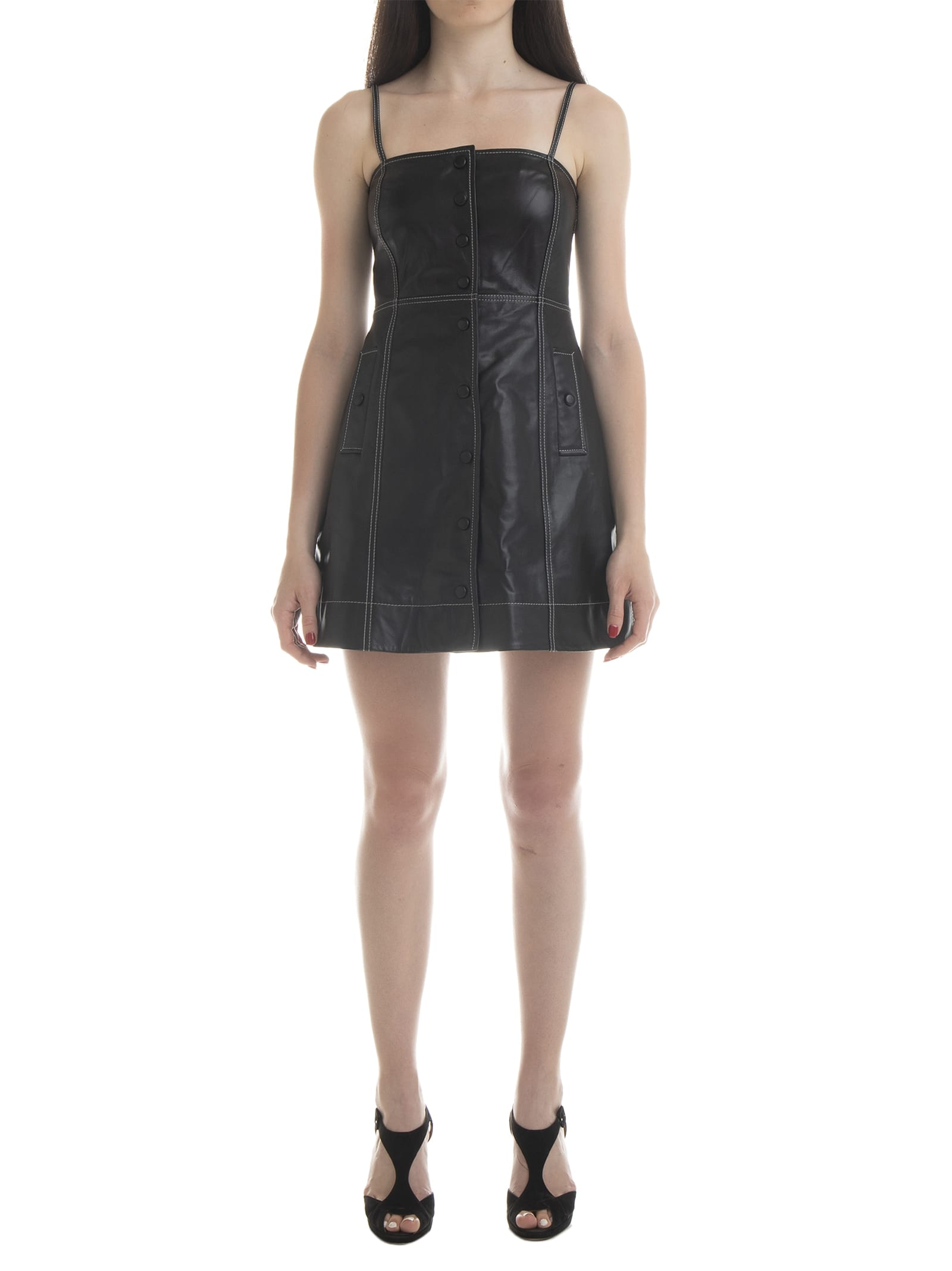 Ganni Lamb Leather Dress