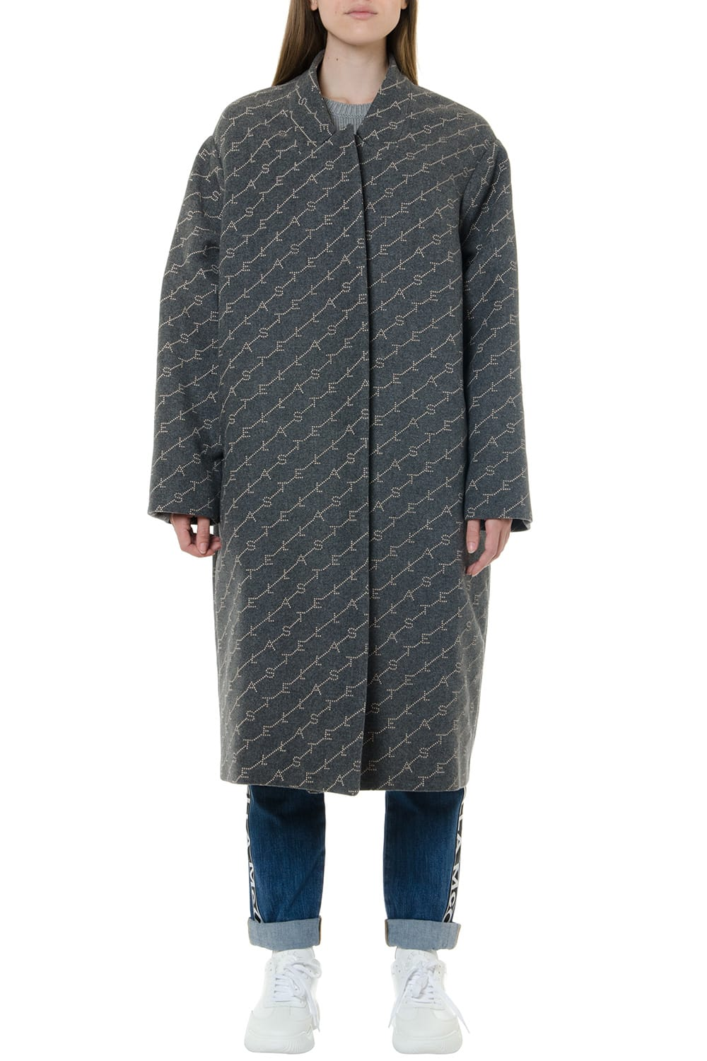 Stella McCartney Kailey Granite Coat With Monogram