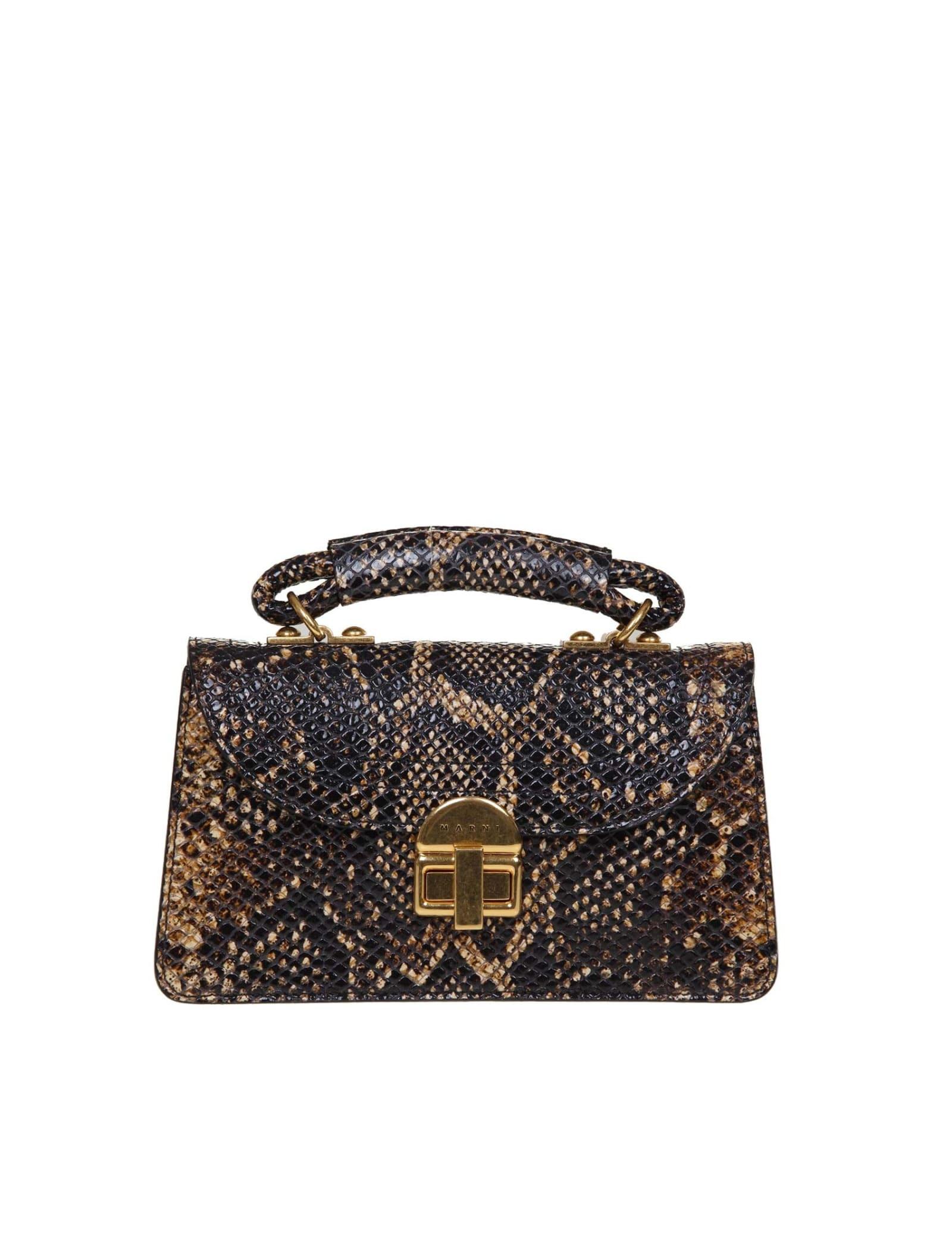 Marni Juliette Shoulder Bag In Python Print
