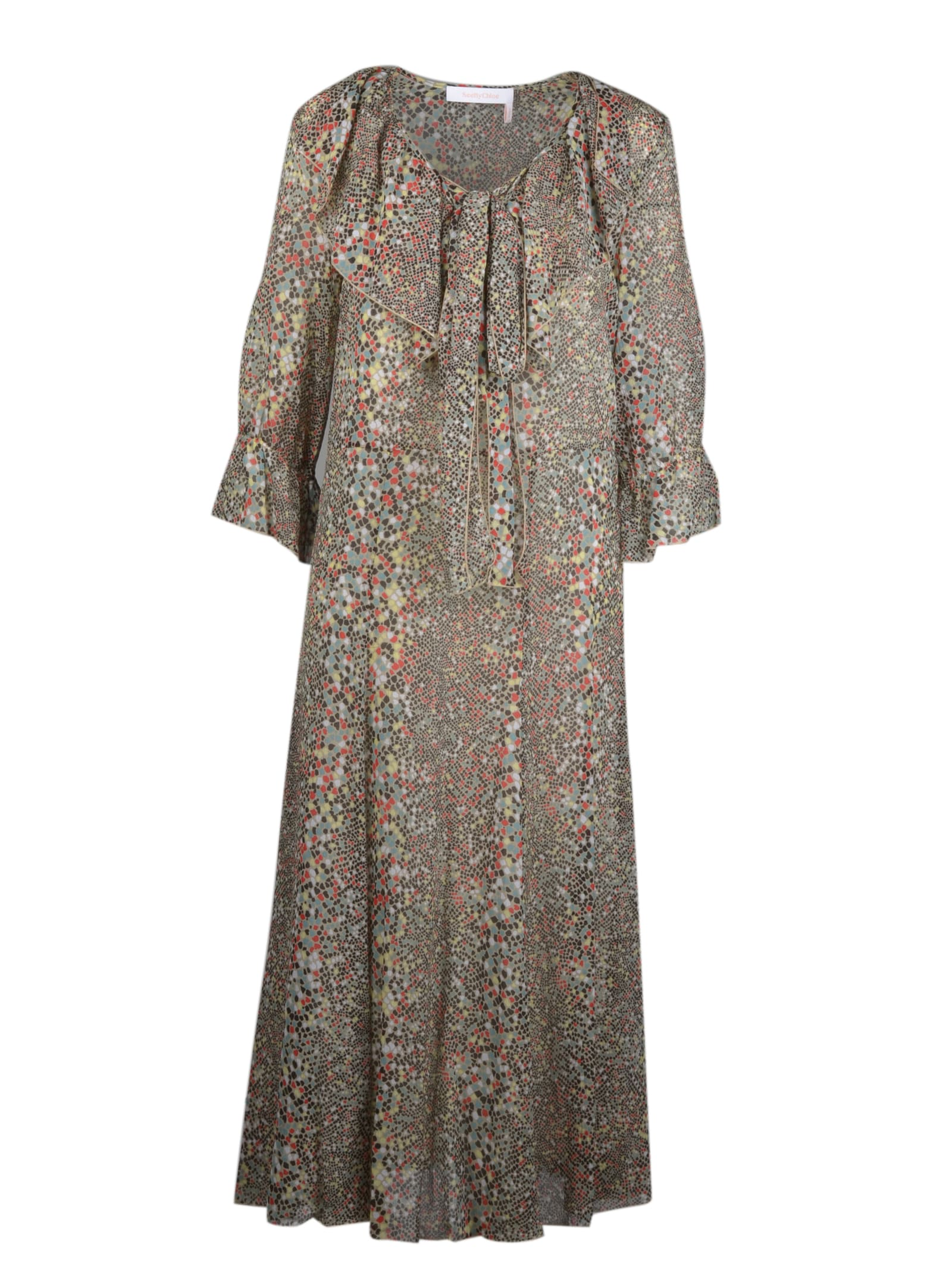 Buy See by Chloé Printed Midi Dress online, shop See by Chloé with free shipping