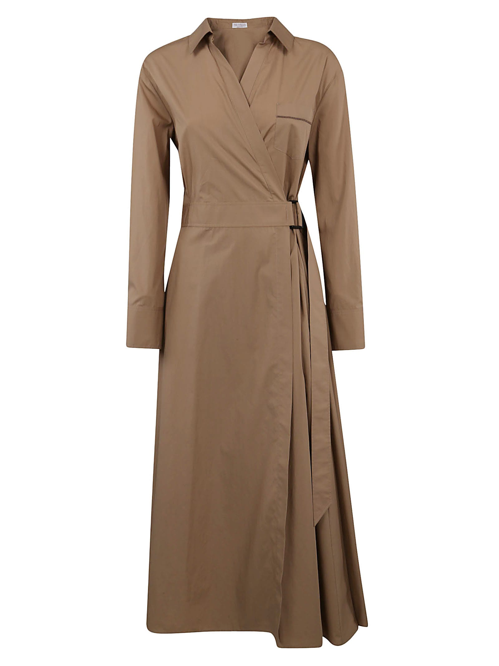 Brunello Cucinelli Belted Long Dress
