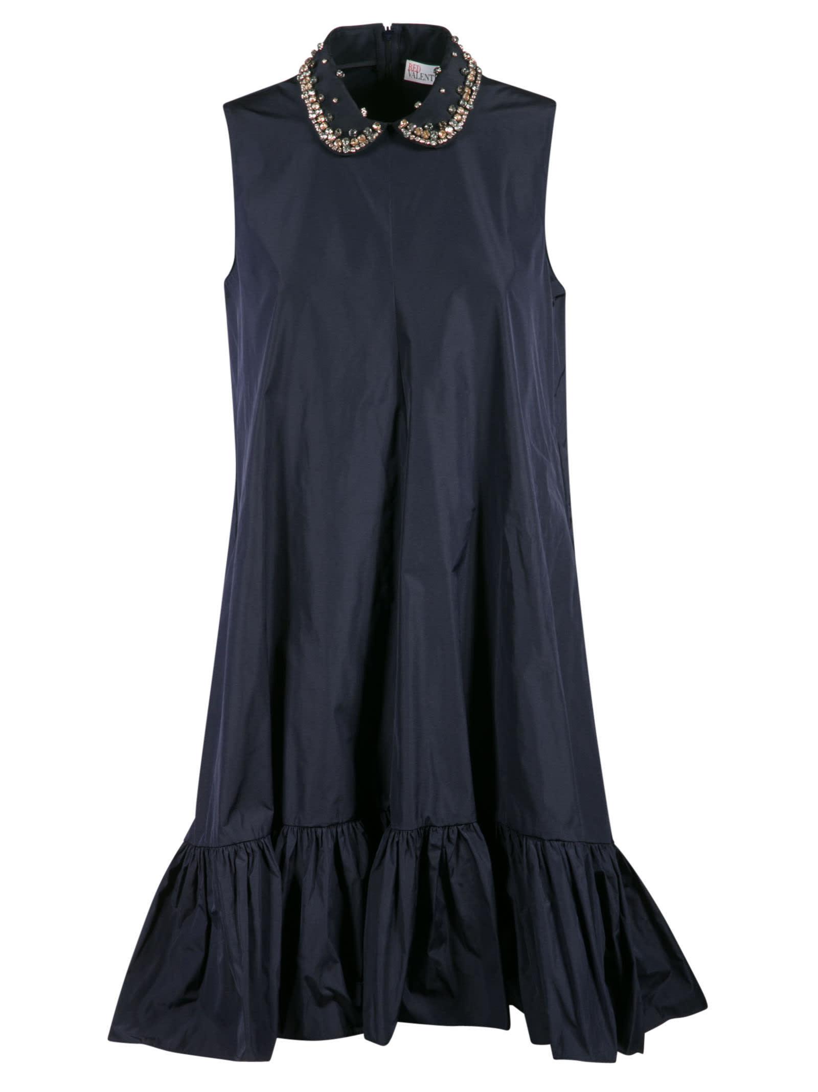 RED Valentino Embellished Collar Sleeveless Dress