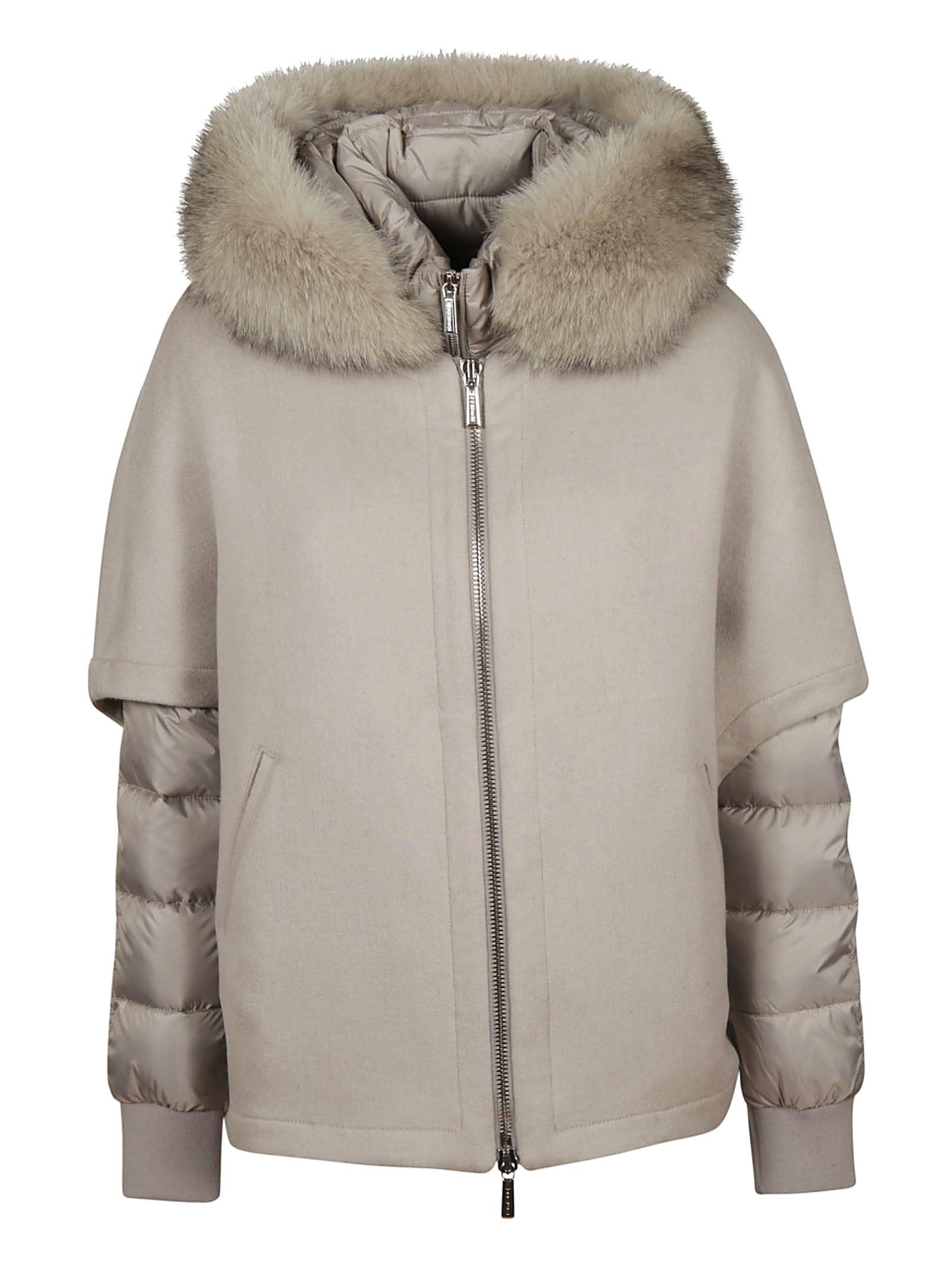 Moorer Fur Trimmed Down Jacket