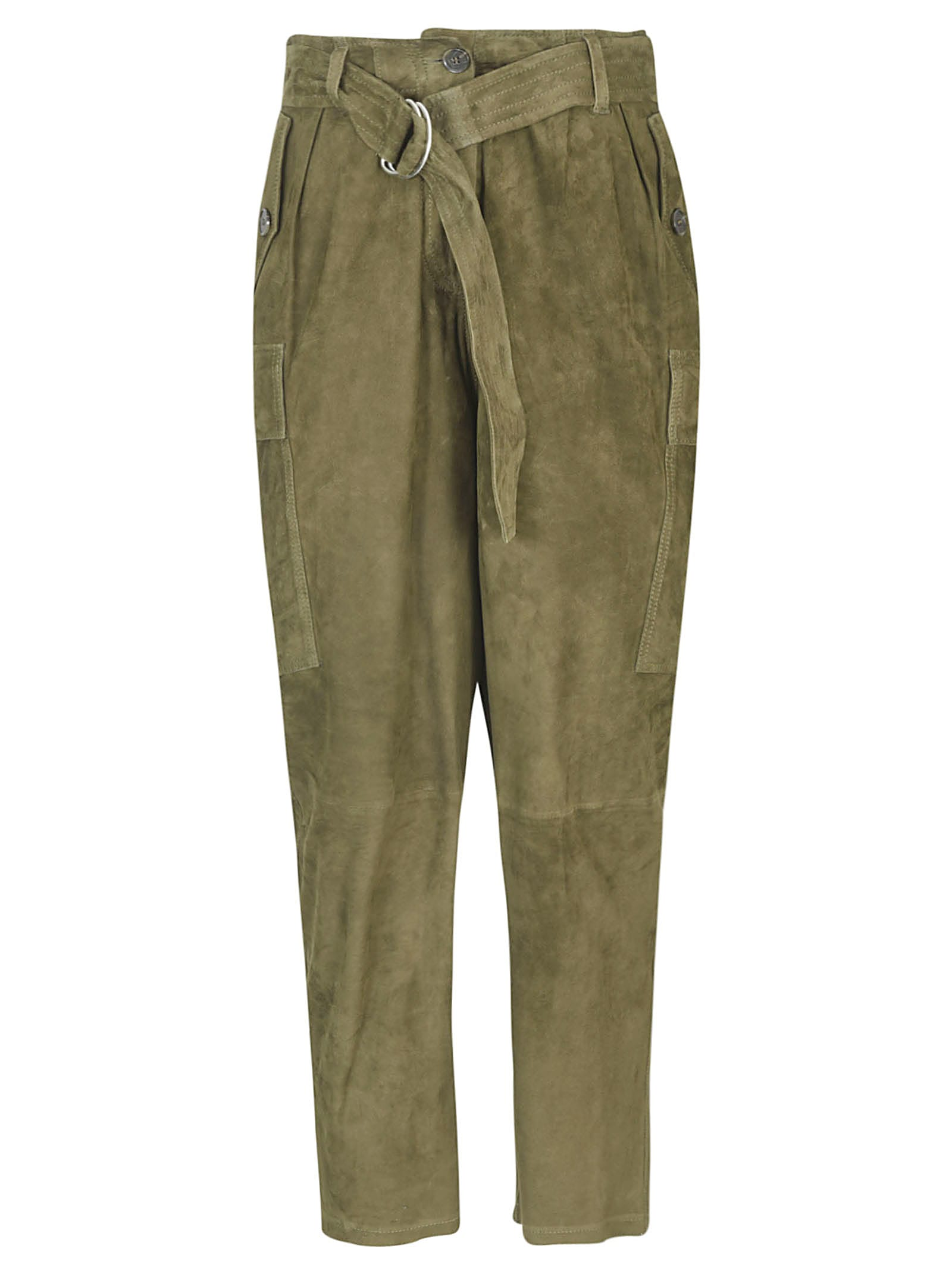 1972 Belted Cropped Trousers