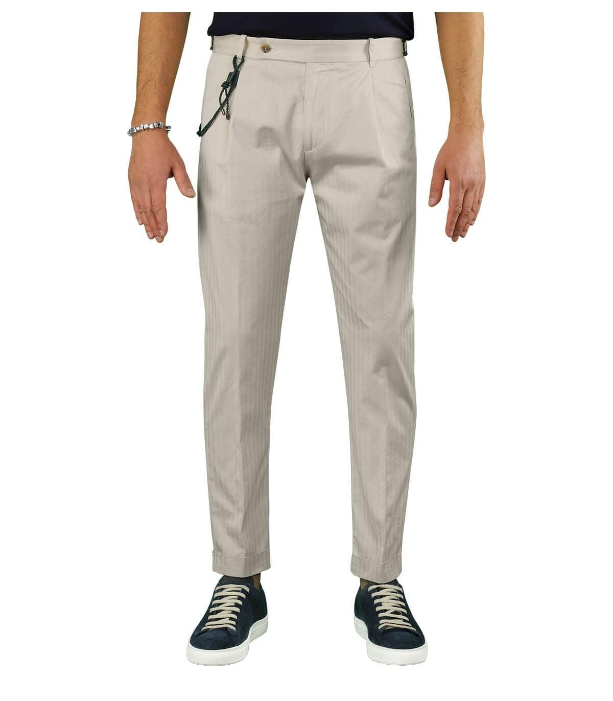 Retro Solaro Cream Chino Trousers