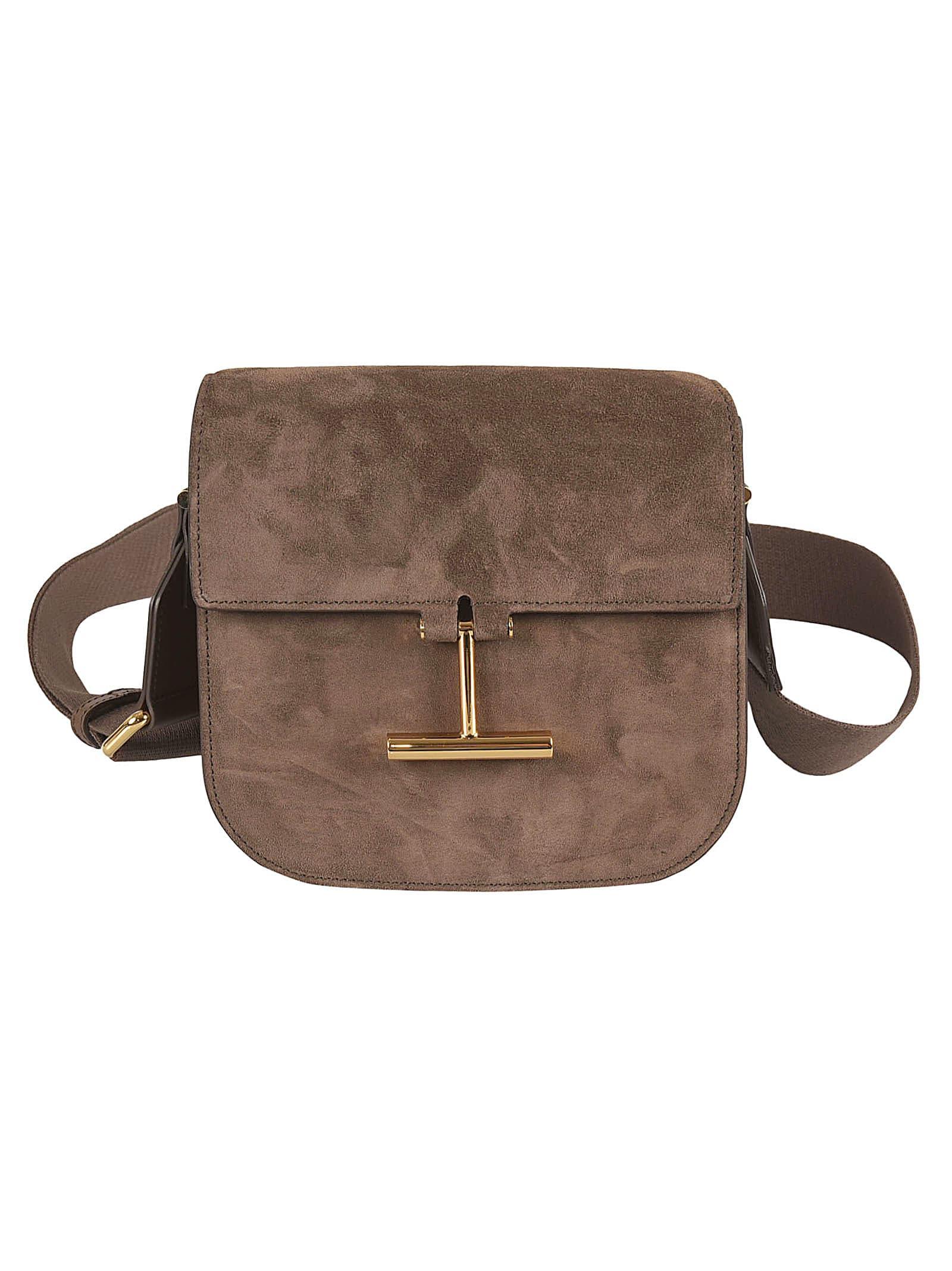 Tom Ford Flap Shoulder Bag In Brown