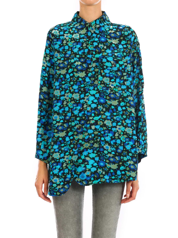 Ganni Silk Mix Shirt