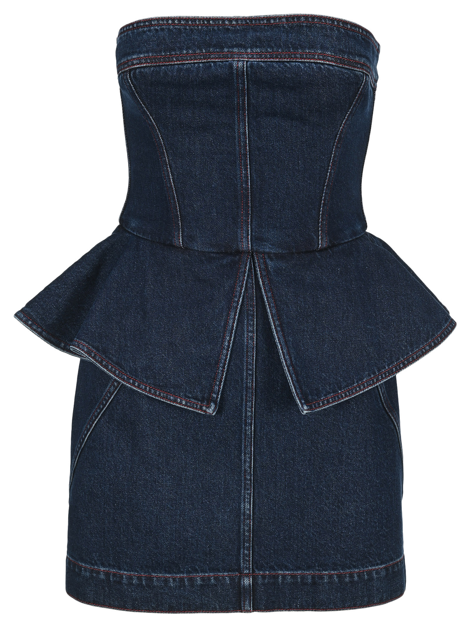 Buy Philosophy Bustier Denim Dress online, shop Philosophy di Lorenzo Serafini with free shipping