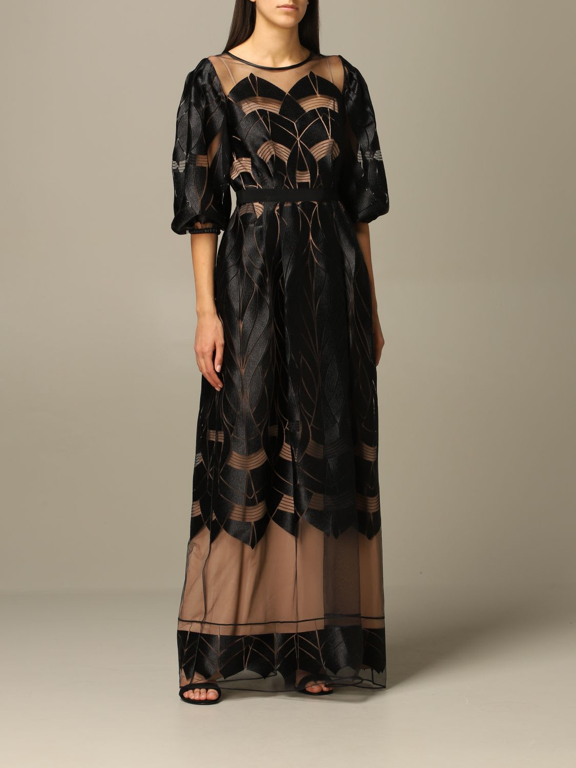 Alberta Ferretti Dress Alberta Ferretti Long Dress With Optical Designs