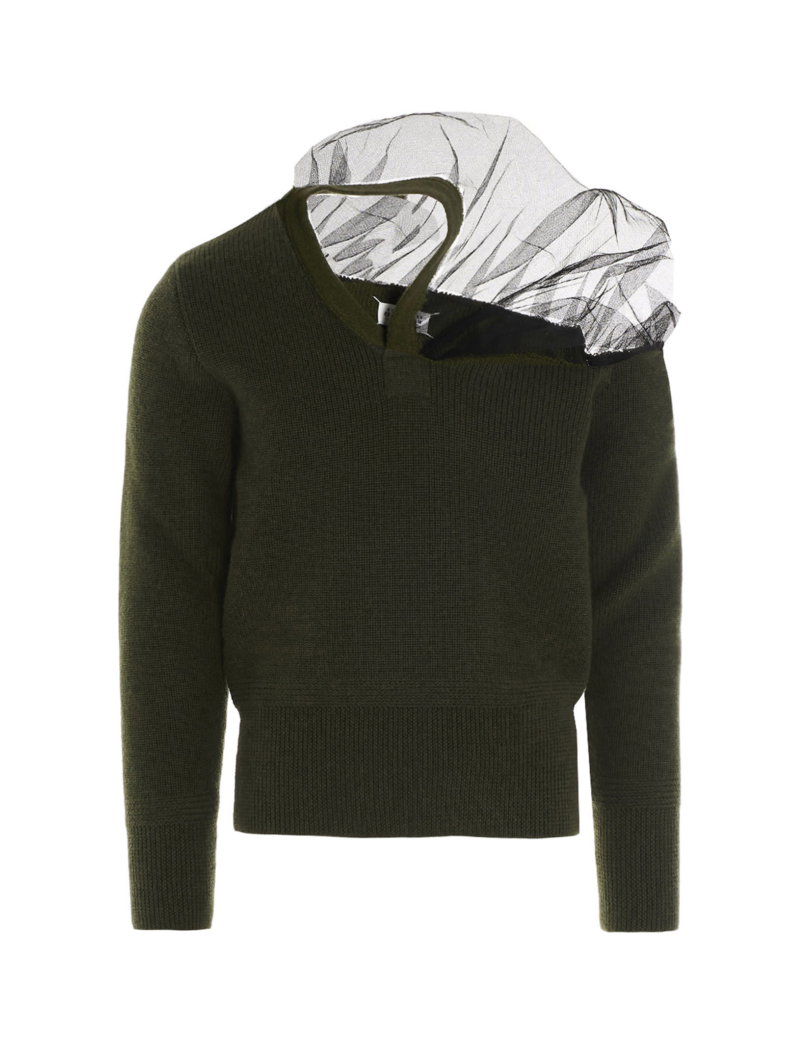 Maison Margiela Camioner Sweater In Green