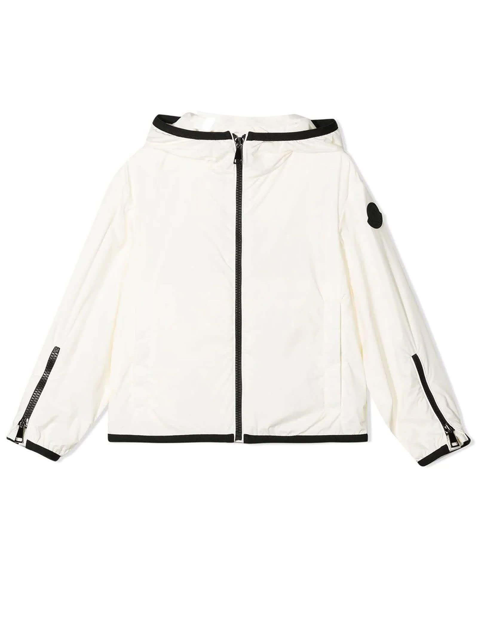 Moncler White Hooded Jacket