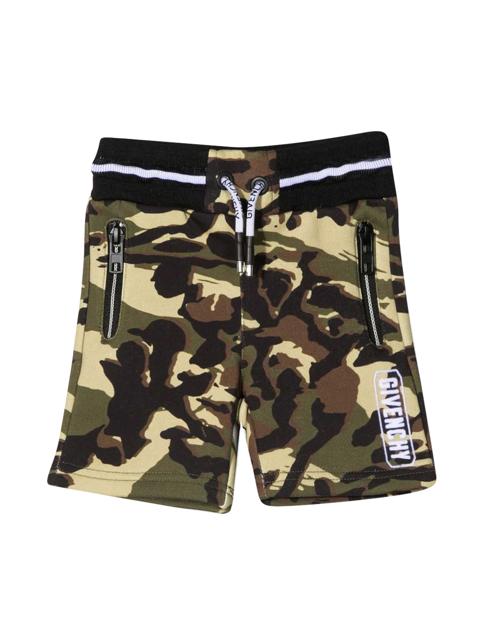 Givenchy SPORTS SHORTS WITH CAMOUFLAGE PRINT