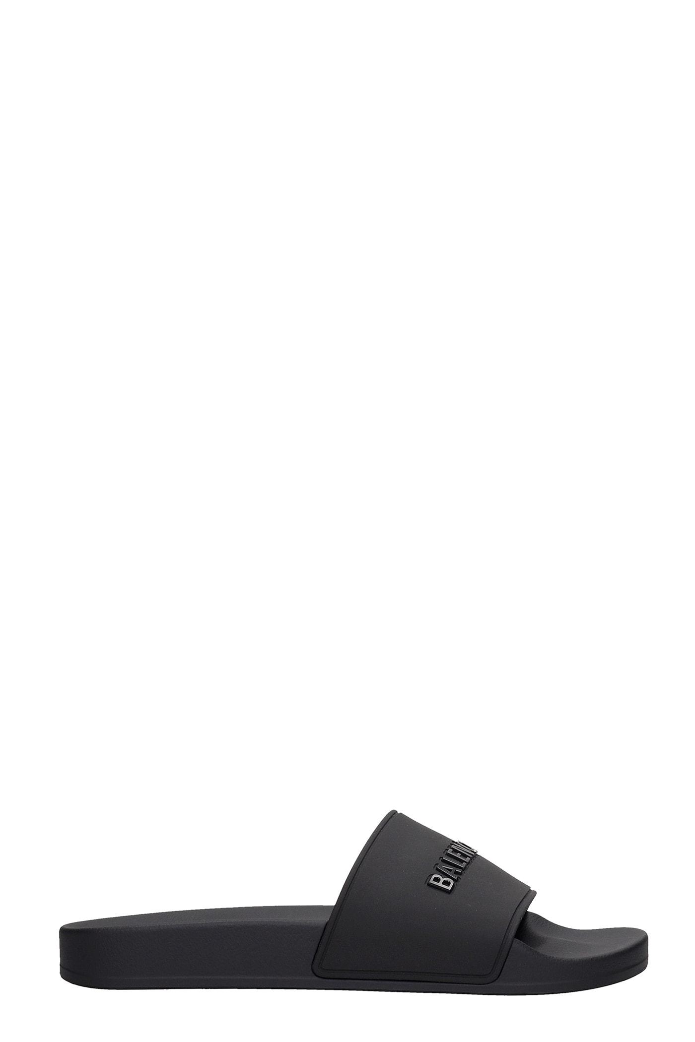 Buy Balenciaga Flats In Black Rubber/plasic online, shop Balenciaga shoes with free shipping