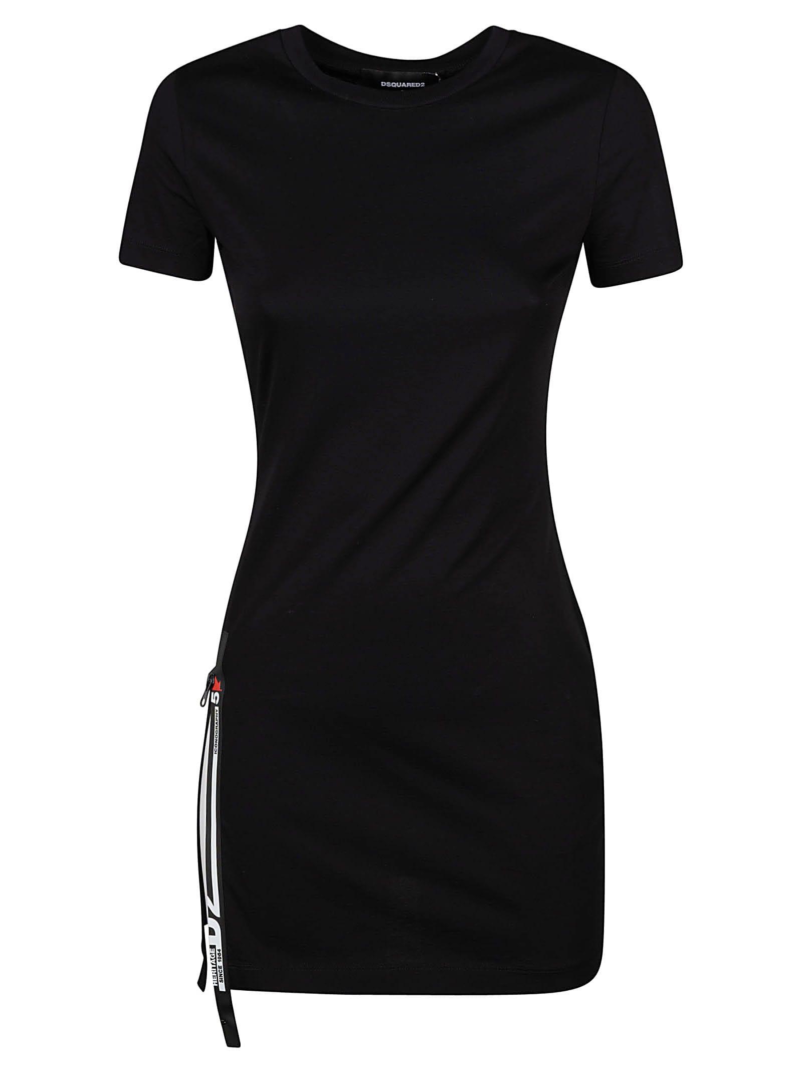 Dsquared2 SIDE ZIP T-SHIRT DRESS