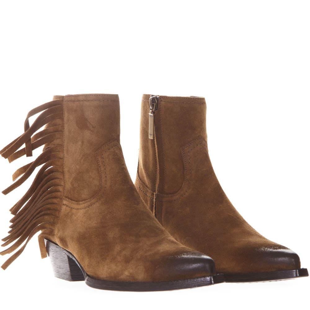 b0df1660e00 Saint Laurent Saint Laurent Lukas Ankle Boots In Camel Suede - Camel ...