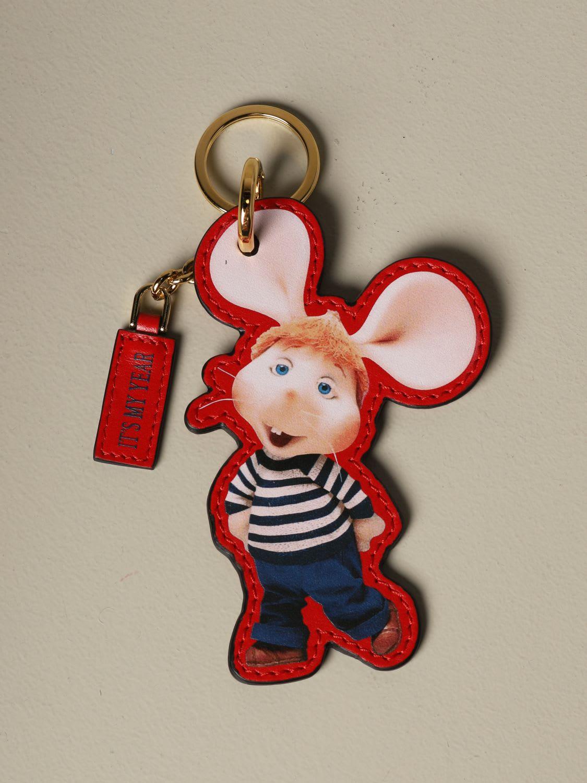 Alberta Ferretti Key Chain Alberta Ferretti Keychain In Leather In The Shape Of Topo Gigio