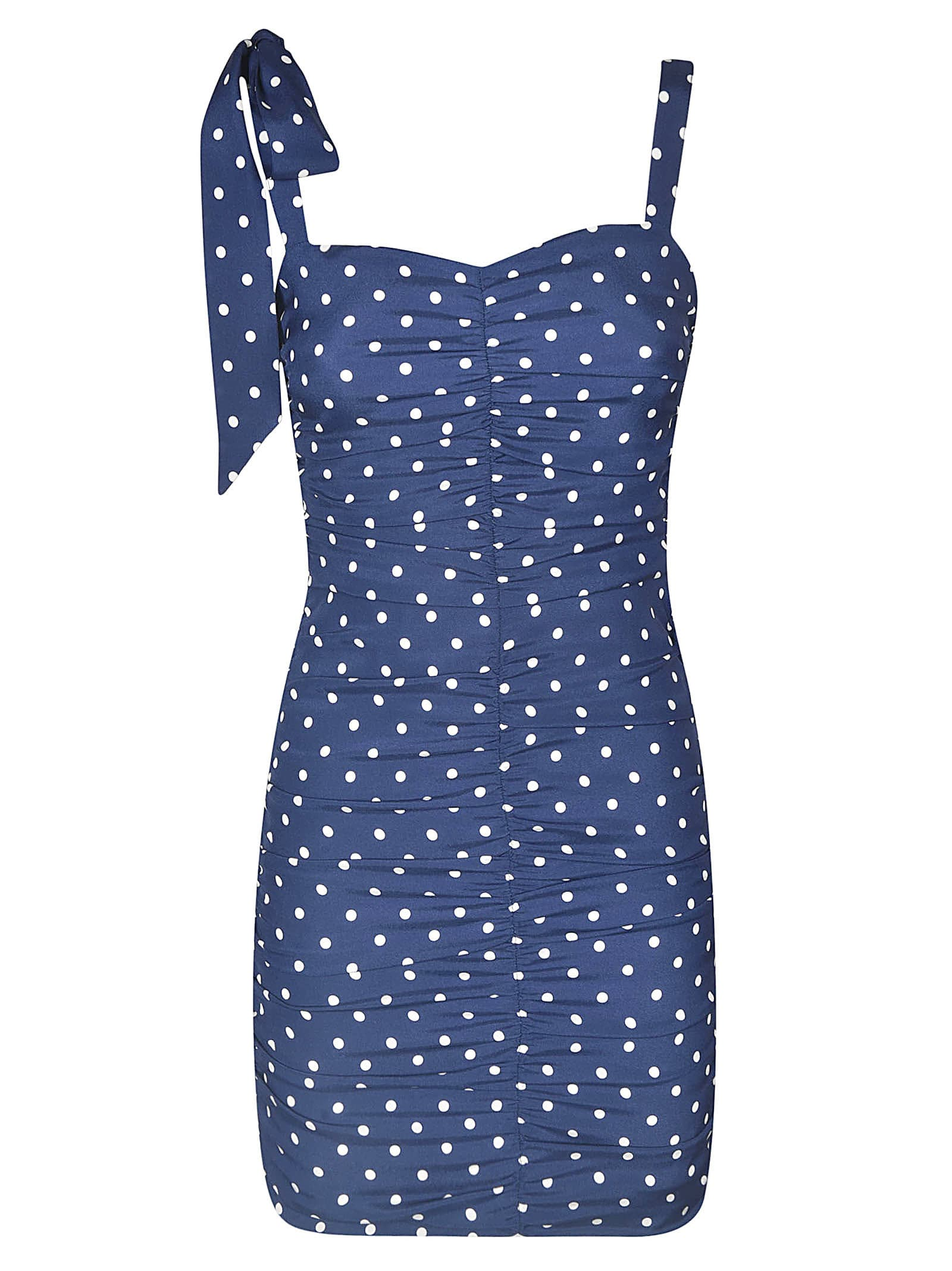 Buy Parosh Sleeveless Short Dotted Dress online, shop Parosh with free shipping