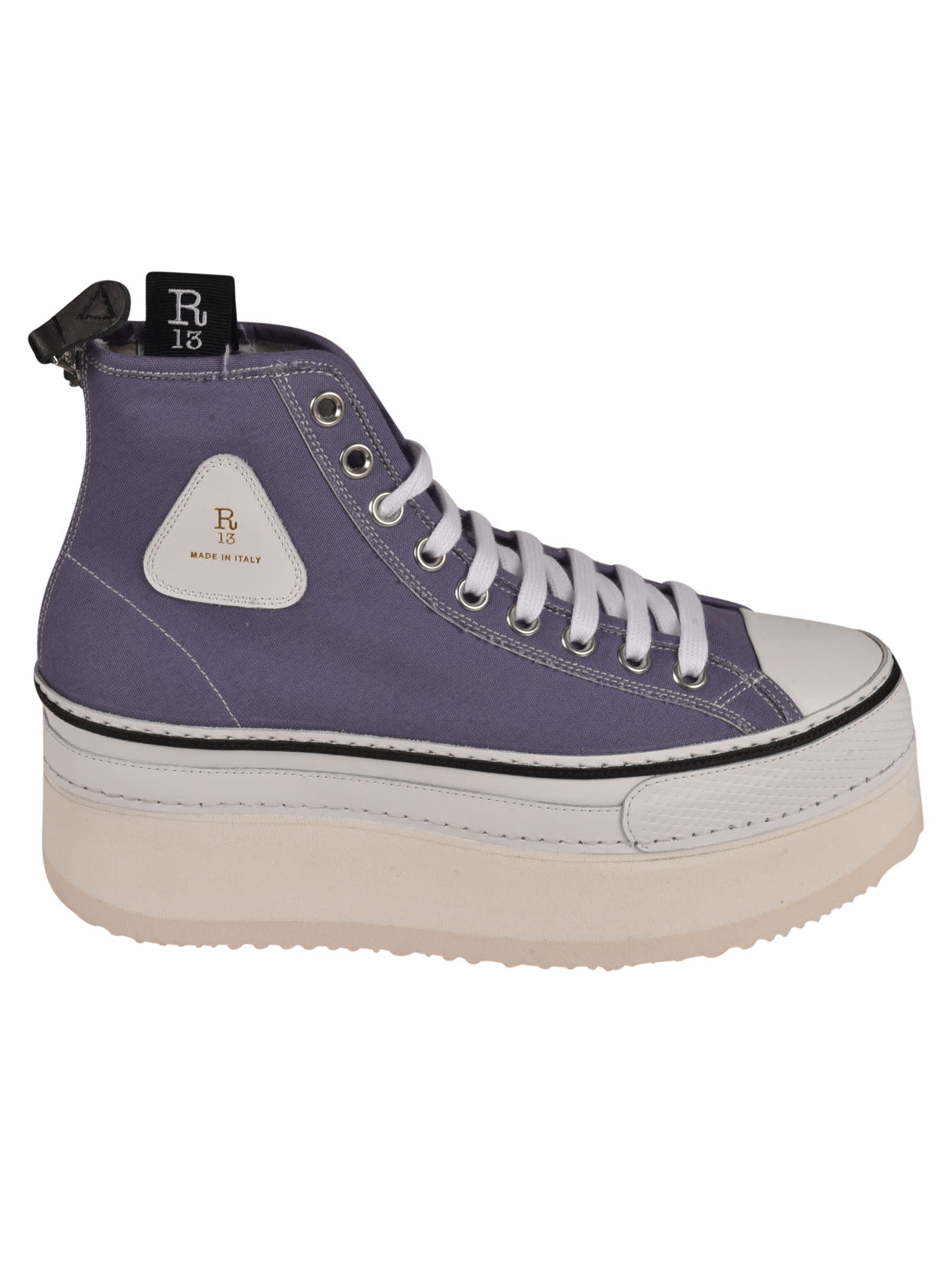 R13 Canvases PLATFORM HIGH TOP SNEAKERS