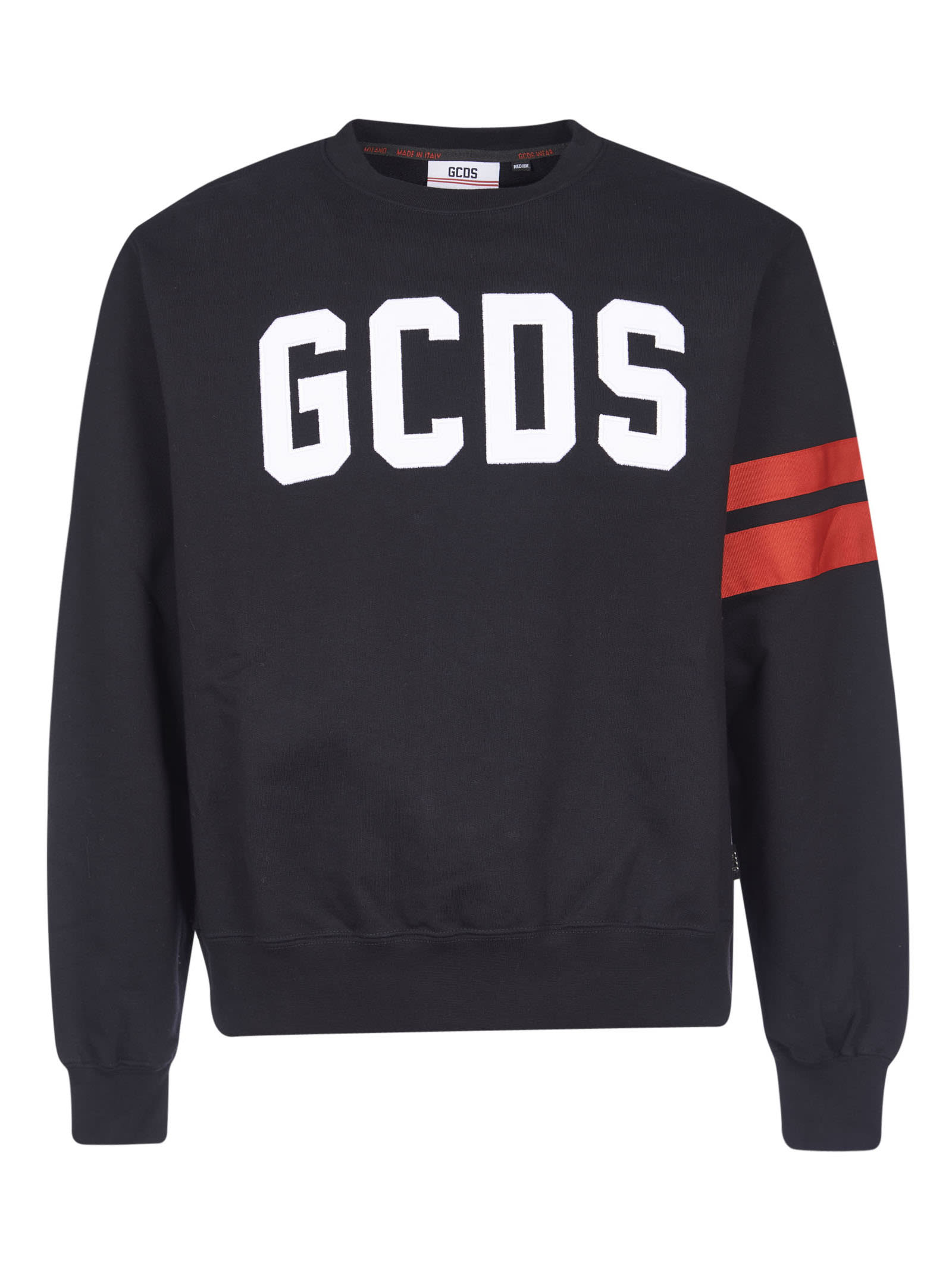 Gcds Cottons LOGO PRINTED RIBBED SWEATSHIRT