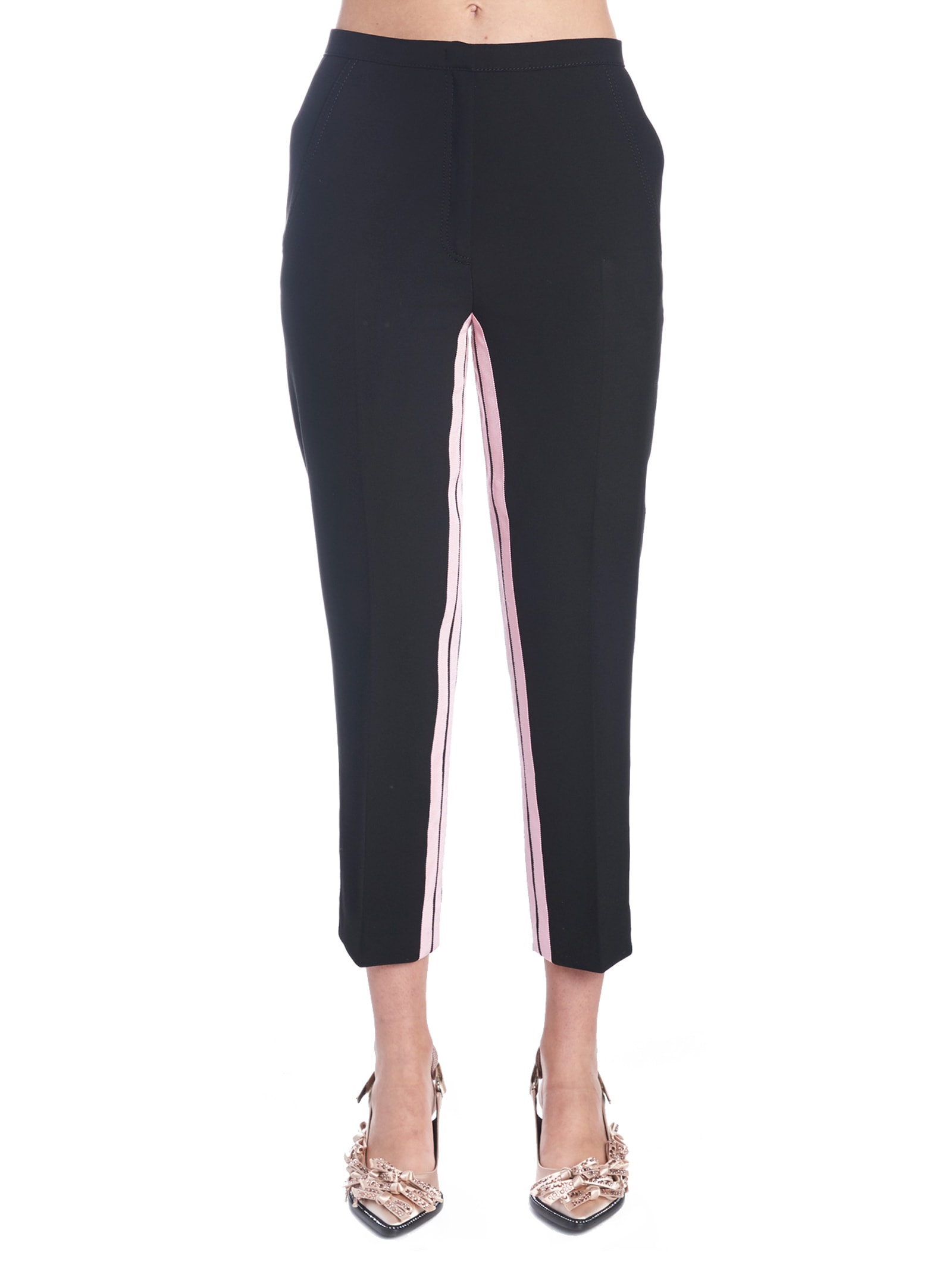 Pants From N 21: Polyester Contrasting Bands PantsComposition: 63% pl, 27% vi, 7% co, 3% ea