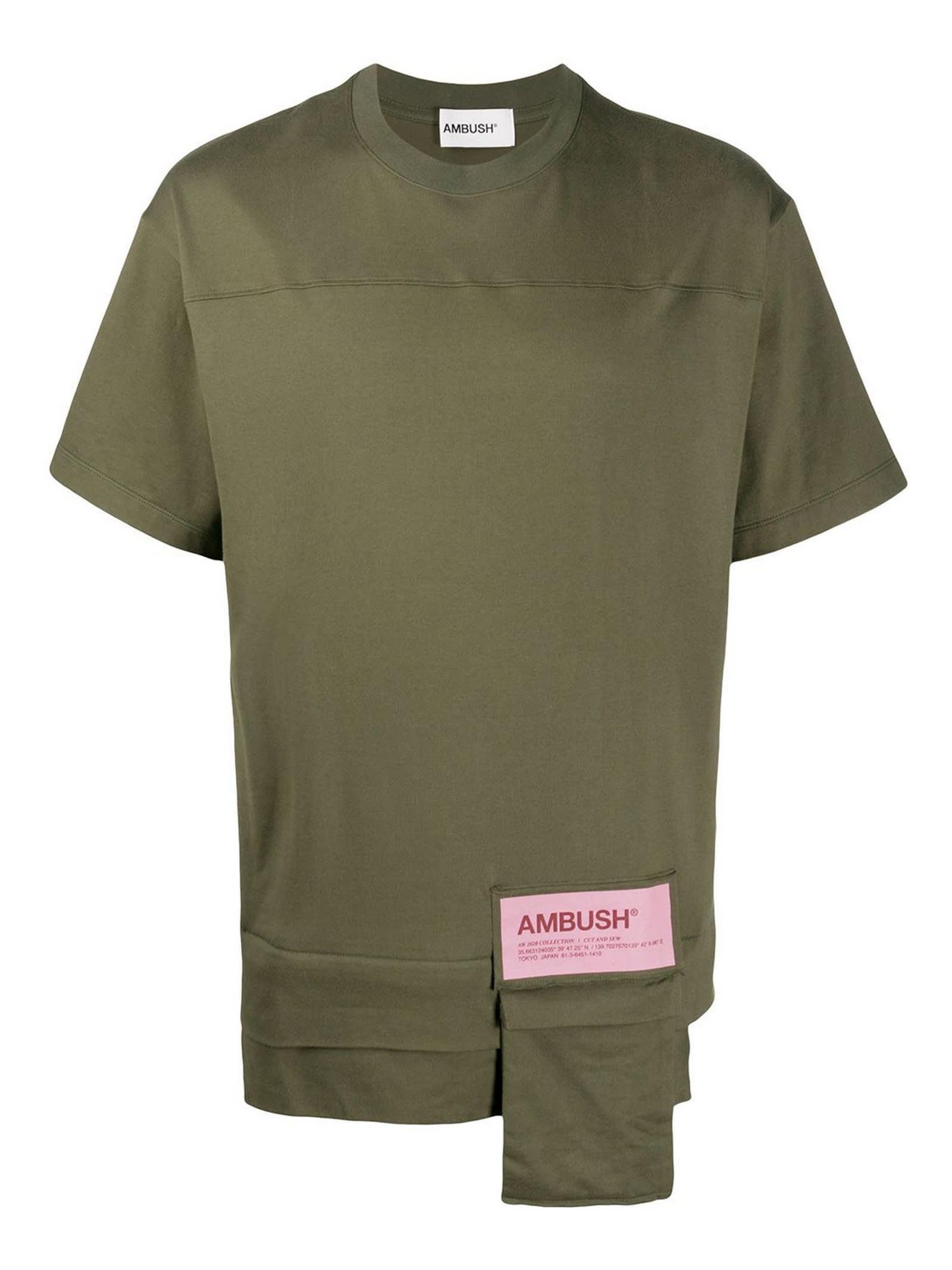 Ambush GREEN COTTON T-SHIRT