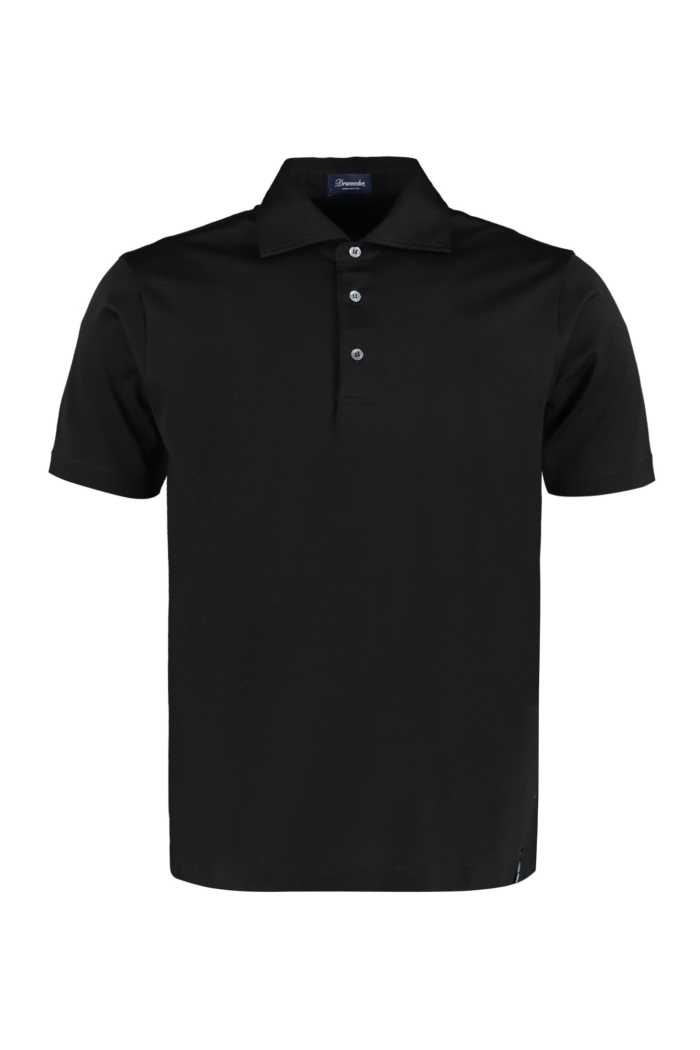 Drumohr Stretch Cotton Polo Shirt