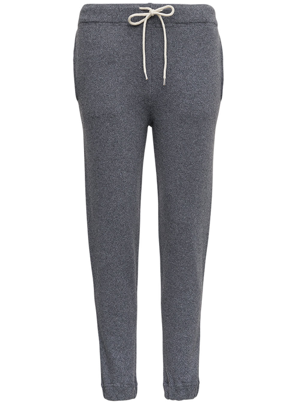 Grey Cashmere Joggers With Drawstring
