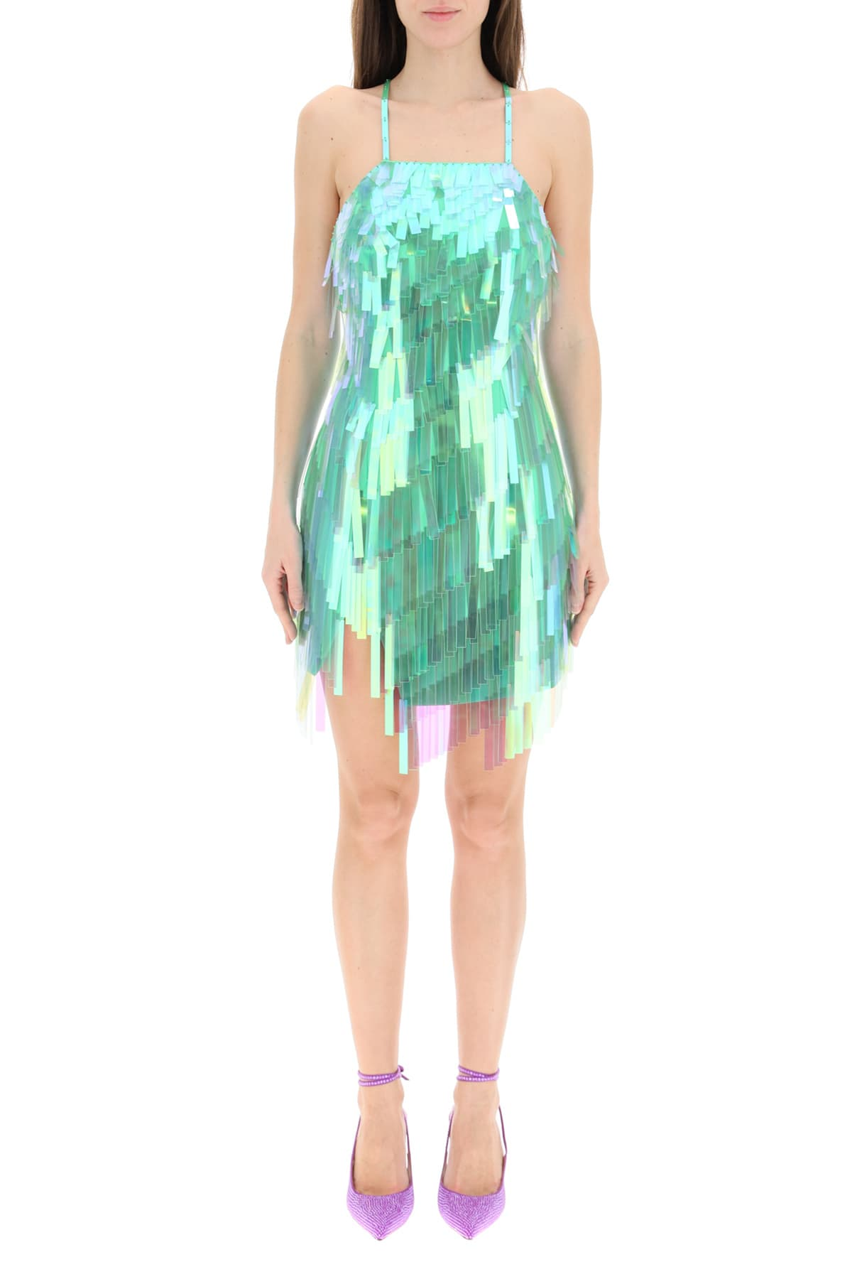 Attico MINI DRESS WITH SHADED SEQUINS