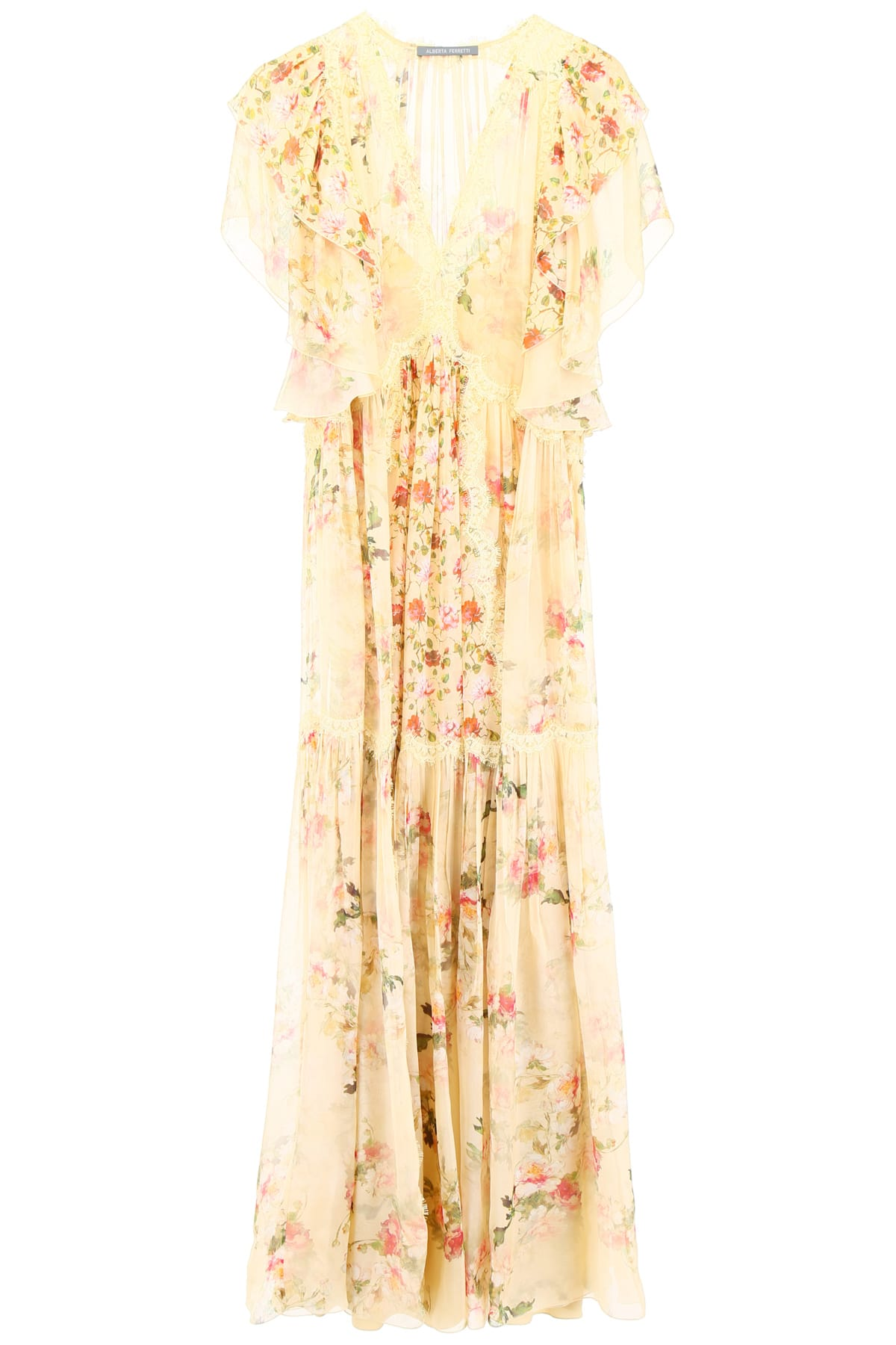 Photo of  Alberta Ferretti Floral-printed Dress- shop Alberta Ferretti  online sales