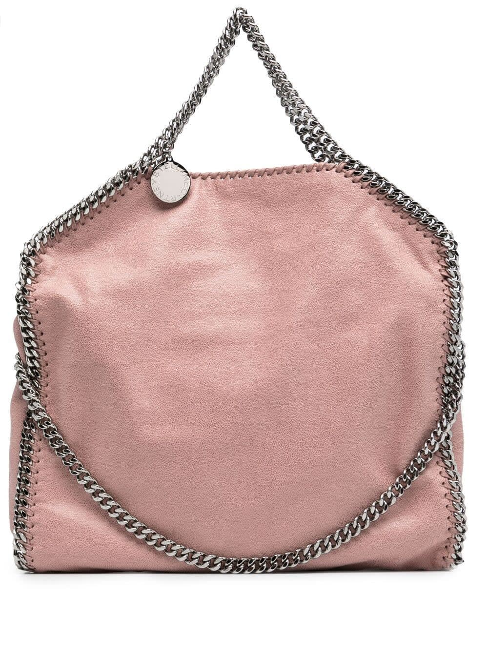 Stella Mccartney PINK FALABELLA FOLD OVER TOTE BAG