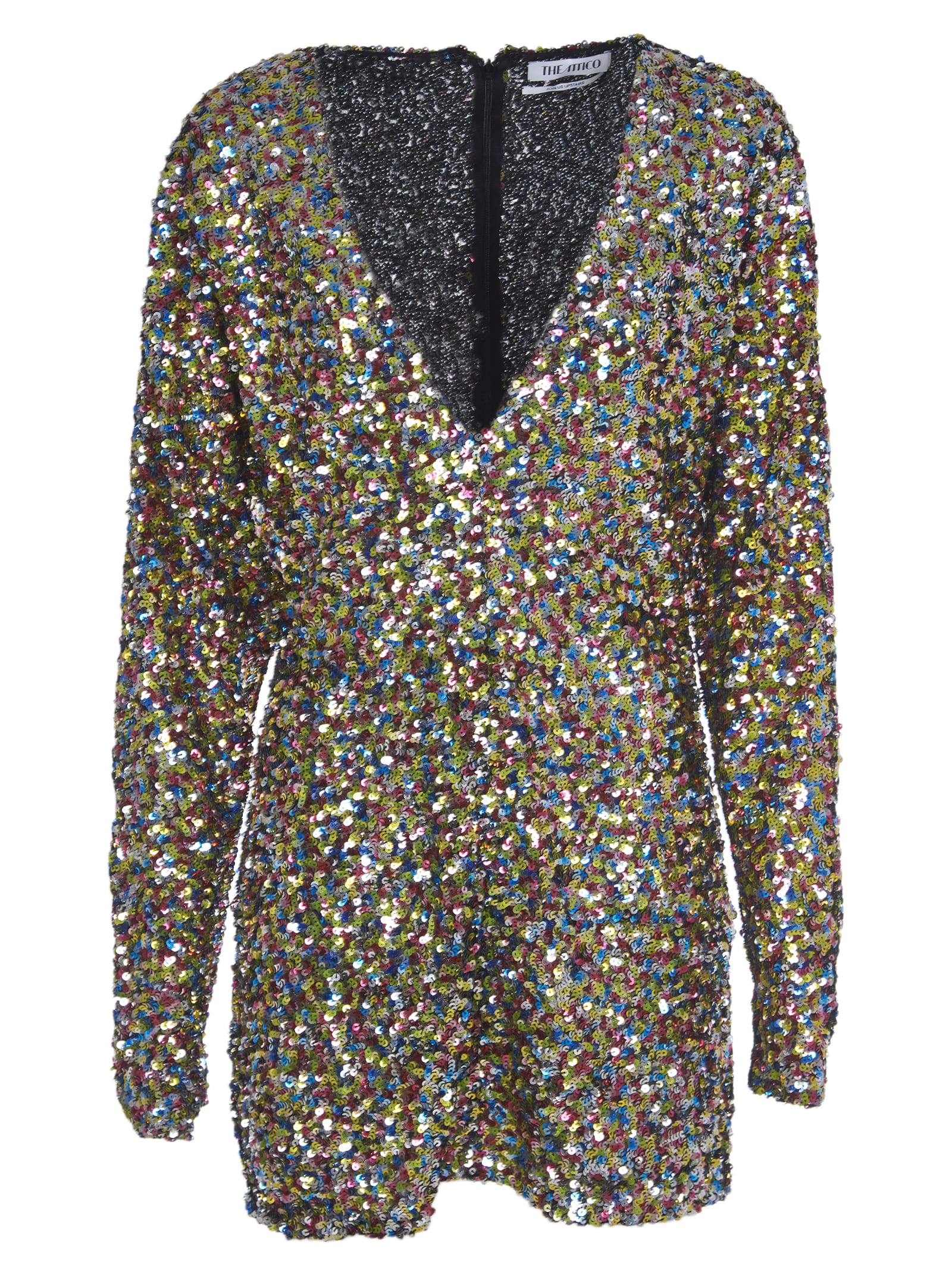 The Attico Multicolor Sequins Dress