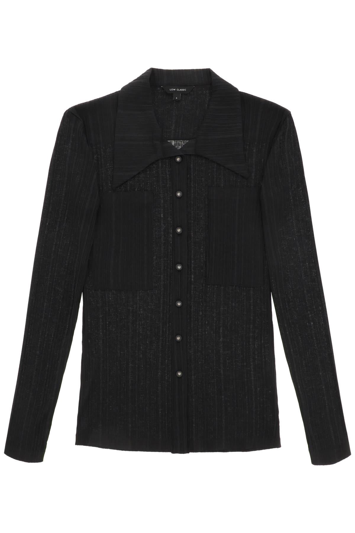 Low Classic Shirts STRETCH KNIT SHIRT