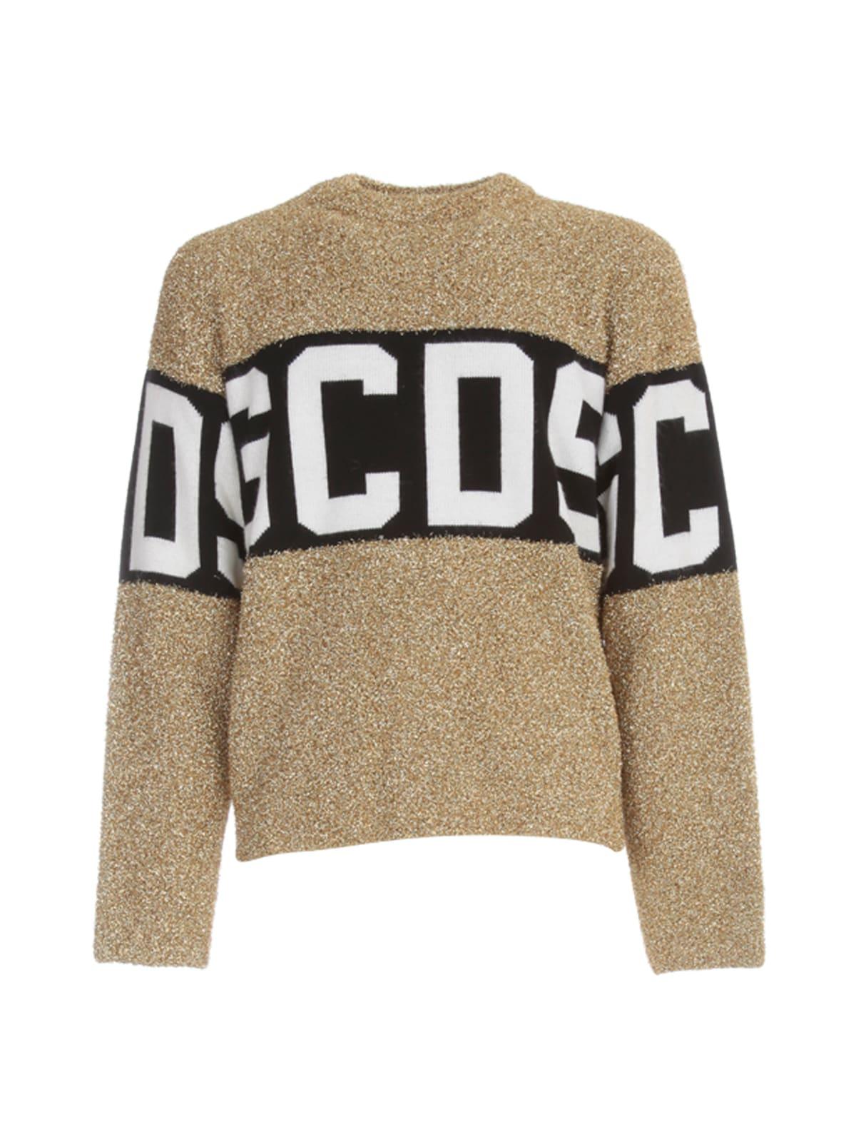 Gcds Sweaters LOGO LUREX SWEATER L/S CREW NECK