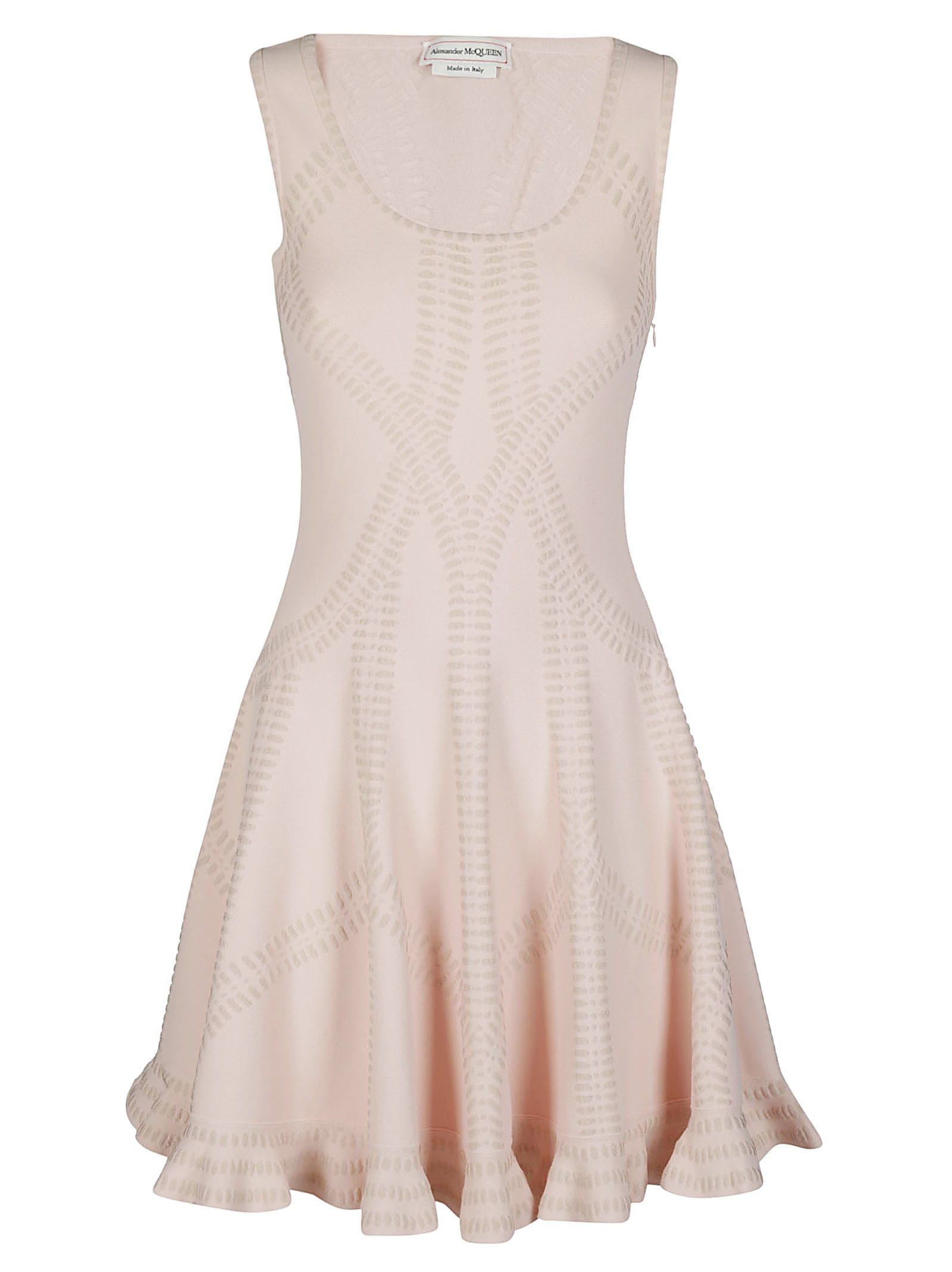 Buy Light Pink Viscose Blend Dress online, shop Alexander McQueen with free shipping