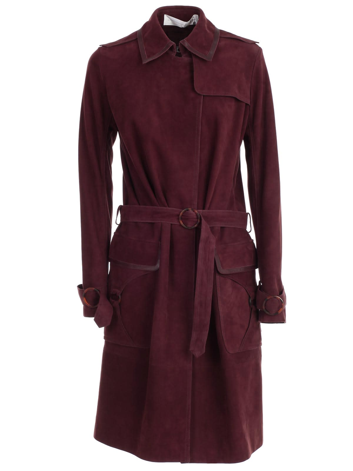 Photo of  Victoria Victoria Beckham Trench Suede- shop Victoria Victoria Beckham jackets online sales