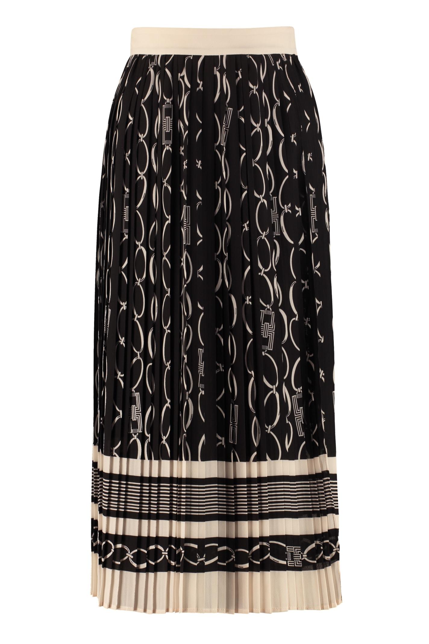 Elisabetta Franchi Printed Pleated Skirt