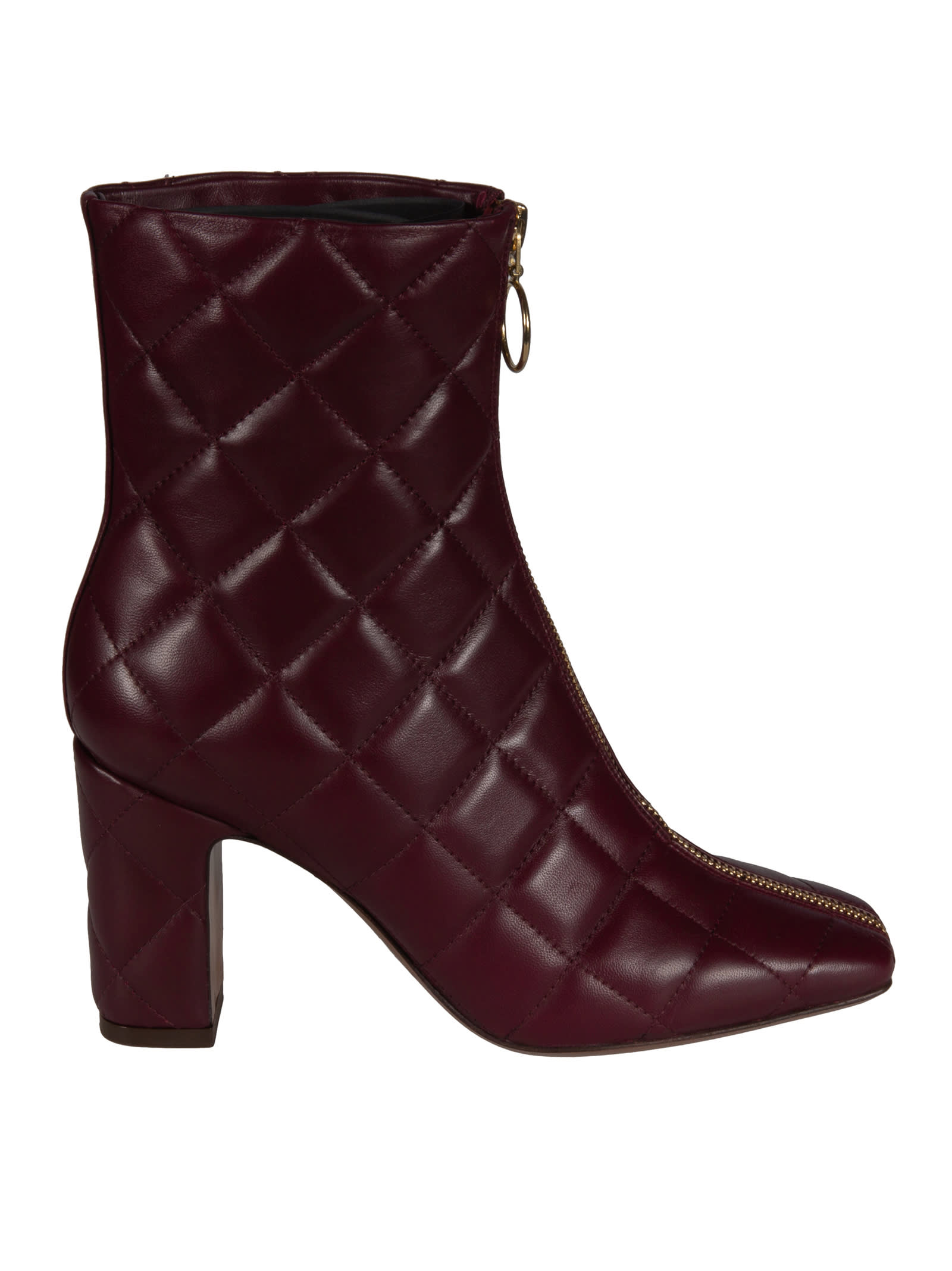LAutre Chose Front Zip Quilted Boots