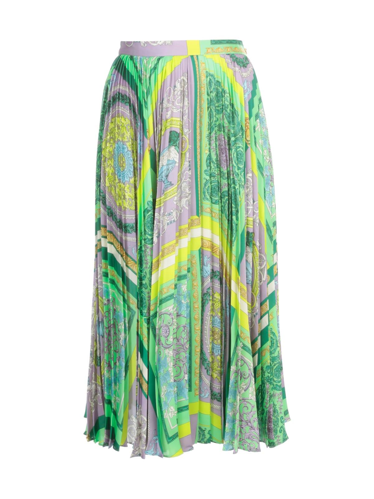 Versace Clothing STRAIGHT PRINTED SKIRT