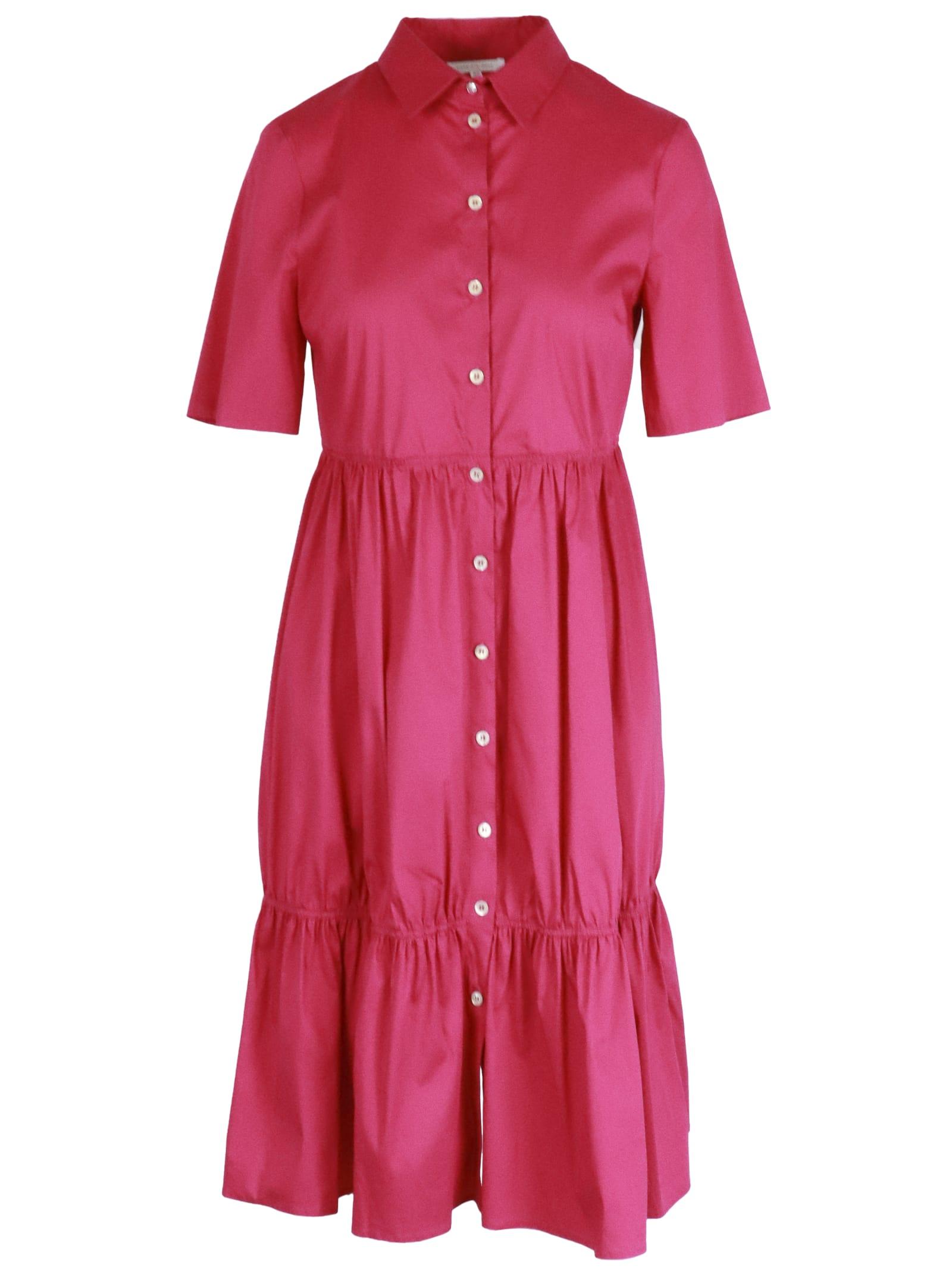 Buy Patrizia Pepe Azalea Cotton Mix Dress online, shop Patrizia Pepe with free shipping