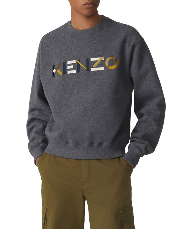 Kenzo Logo Sweatshirt Gray