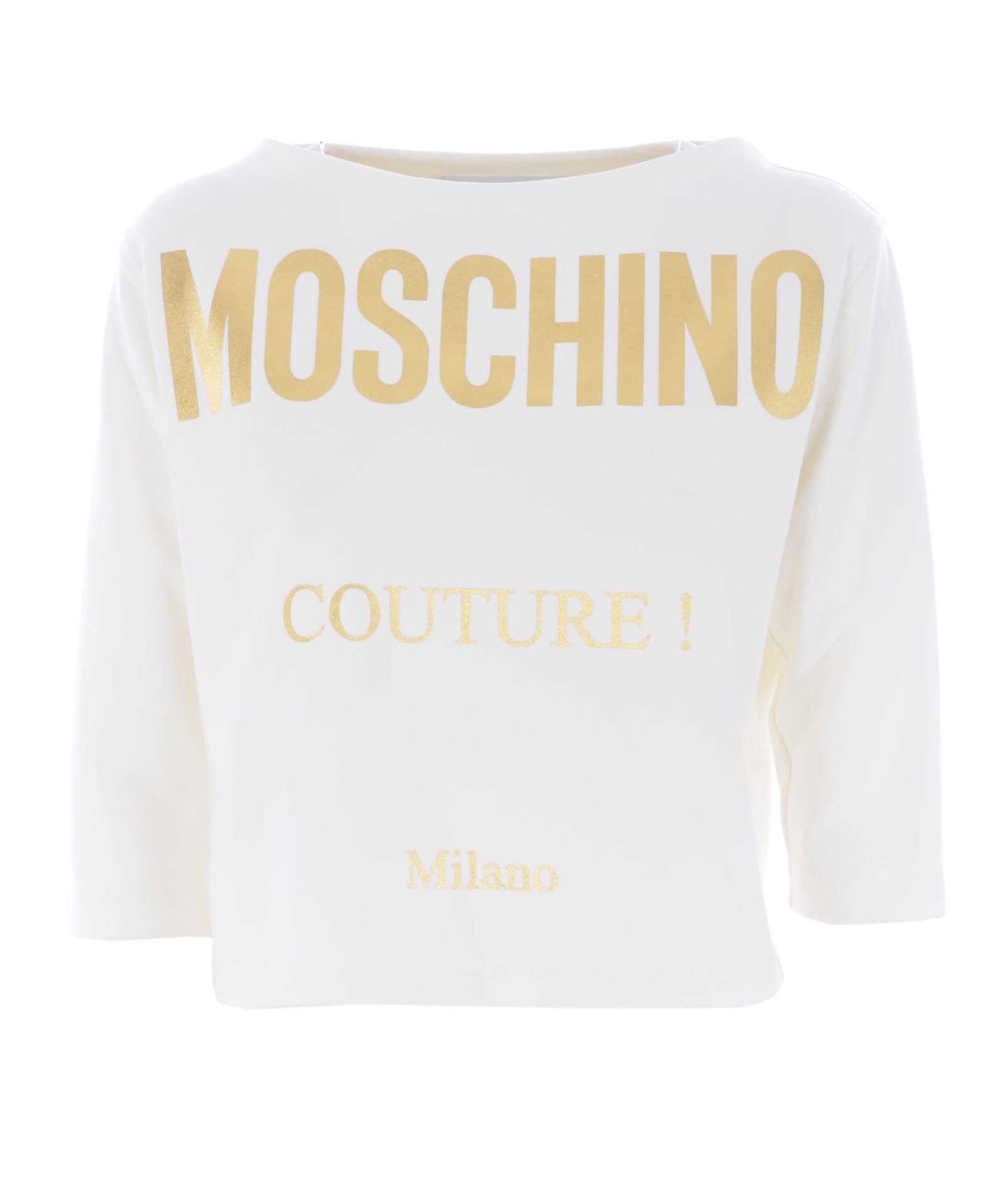 Moschino Fleece In Bianco Latte