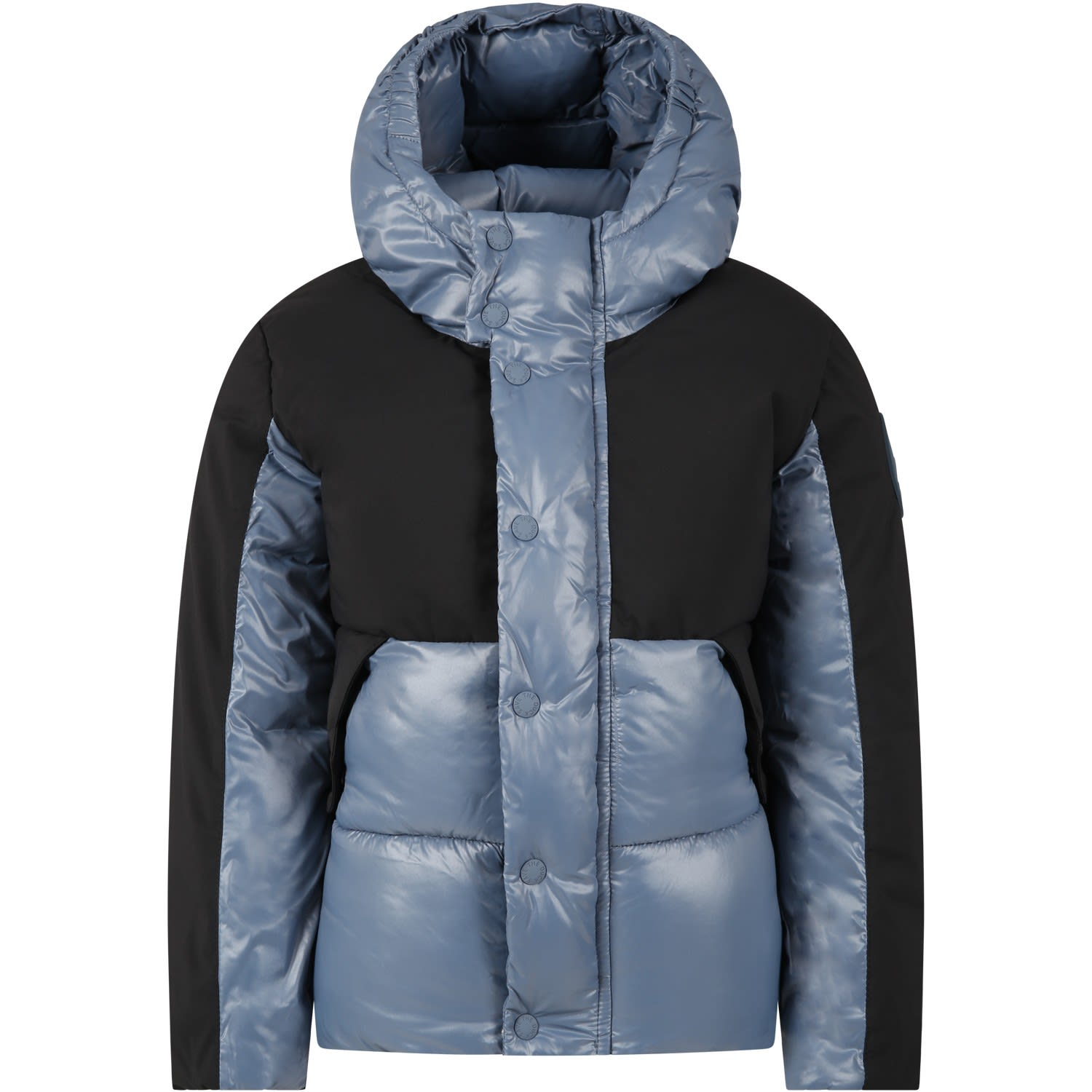 Save The Duck LIGHT BLUE JACKET FOR BOY WITH ICONIC LOGO