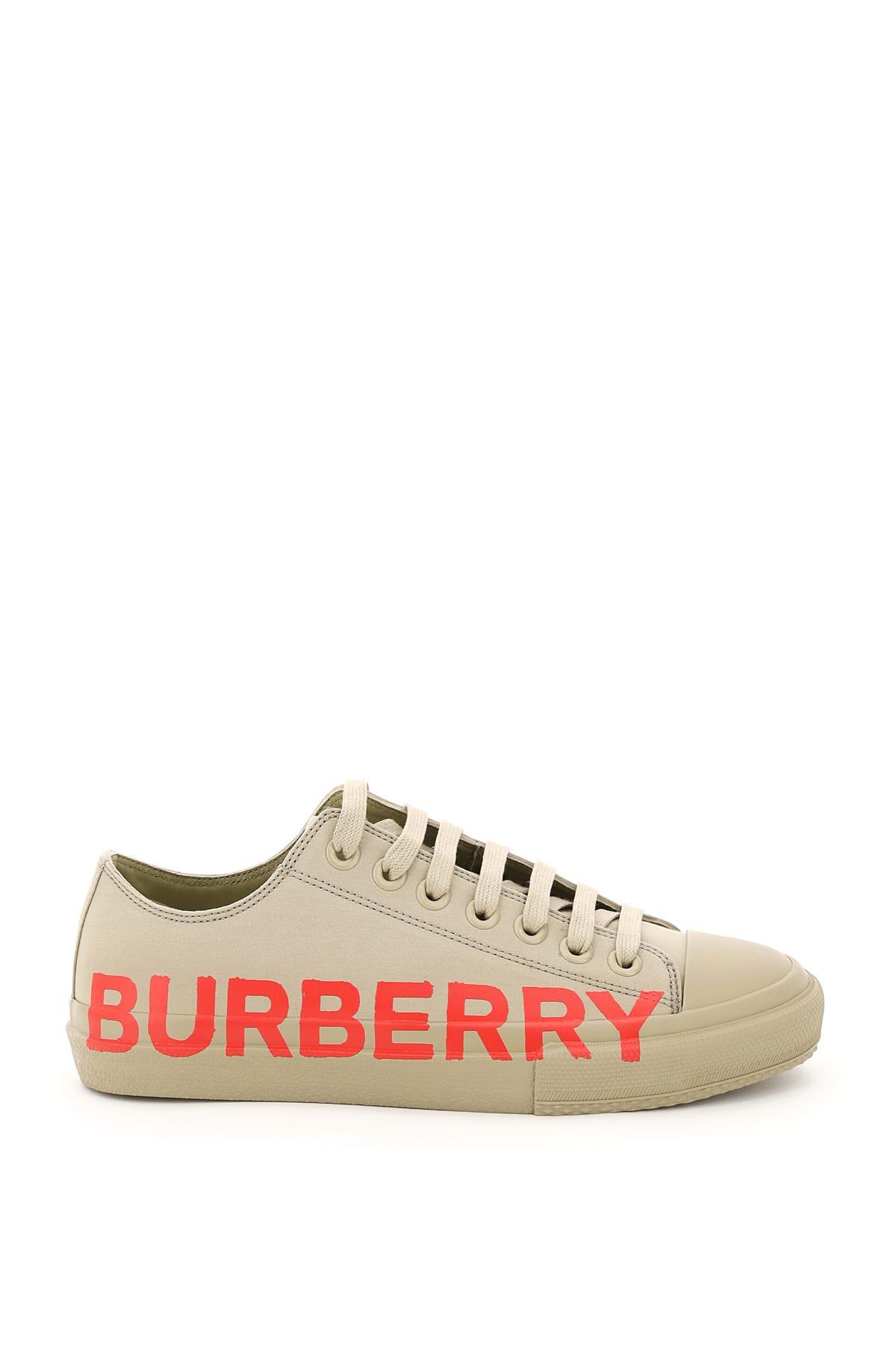 Burberry Shoes LARKHALL LOGO PRINT SNEAKERS