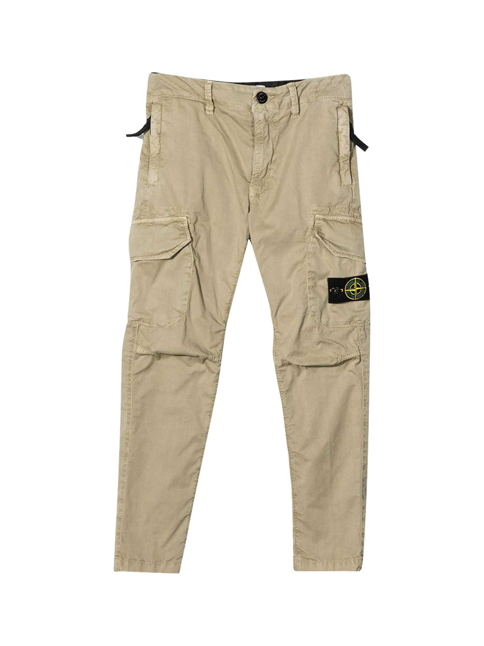 Stone Island Junior Cottons SAND CARGO TROUSERS