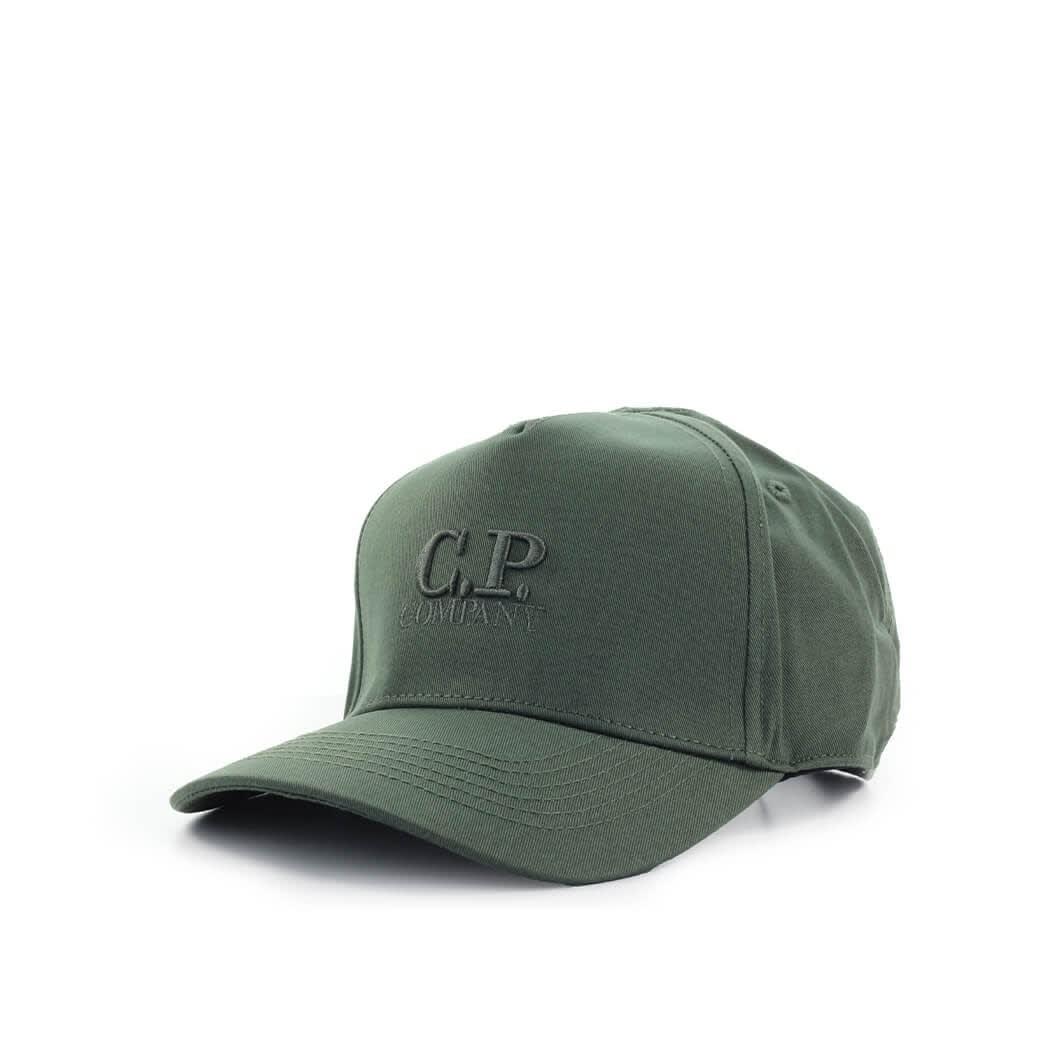 C.p. Company C.P. COMPANY MILITARY GREEN BASEBALL CAP WITH LOGO