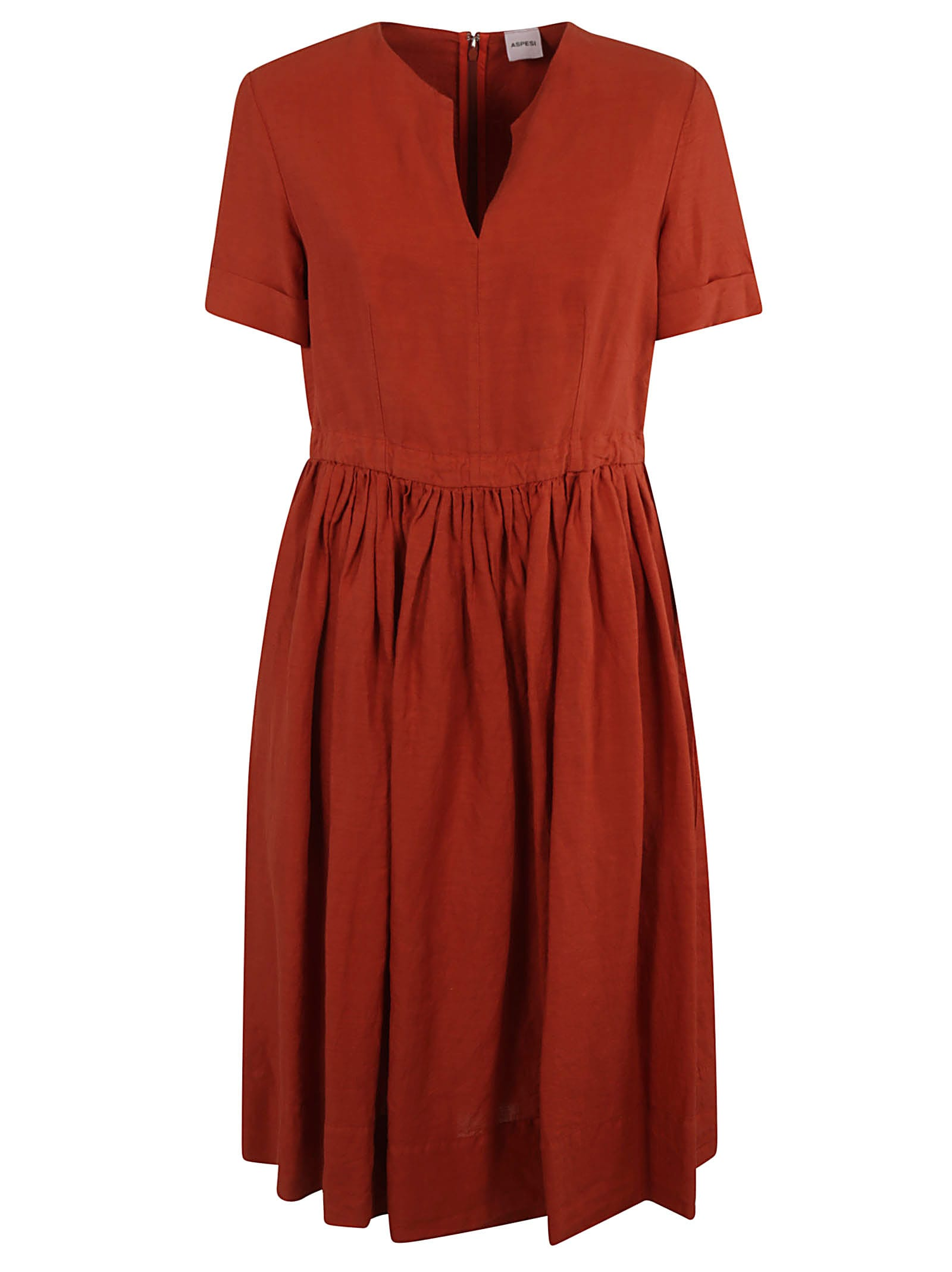 Buy Aspesi Short-sleeve Mid-length Dress online, shop Aspesi with free shipping