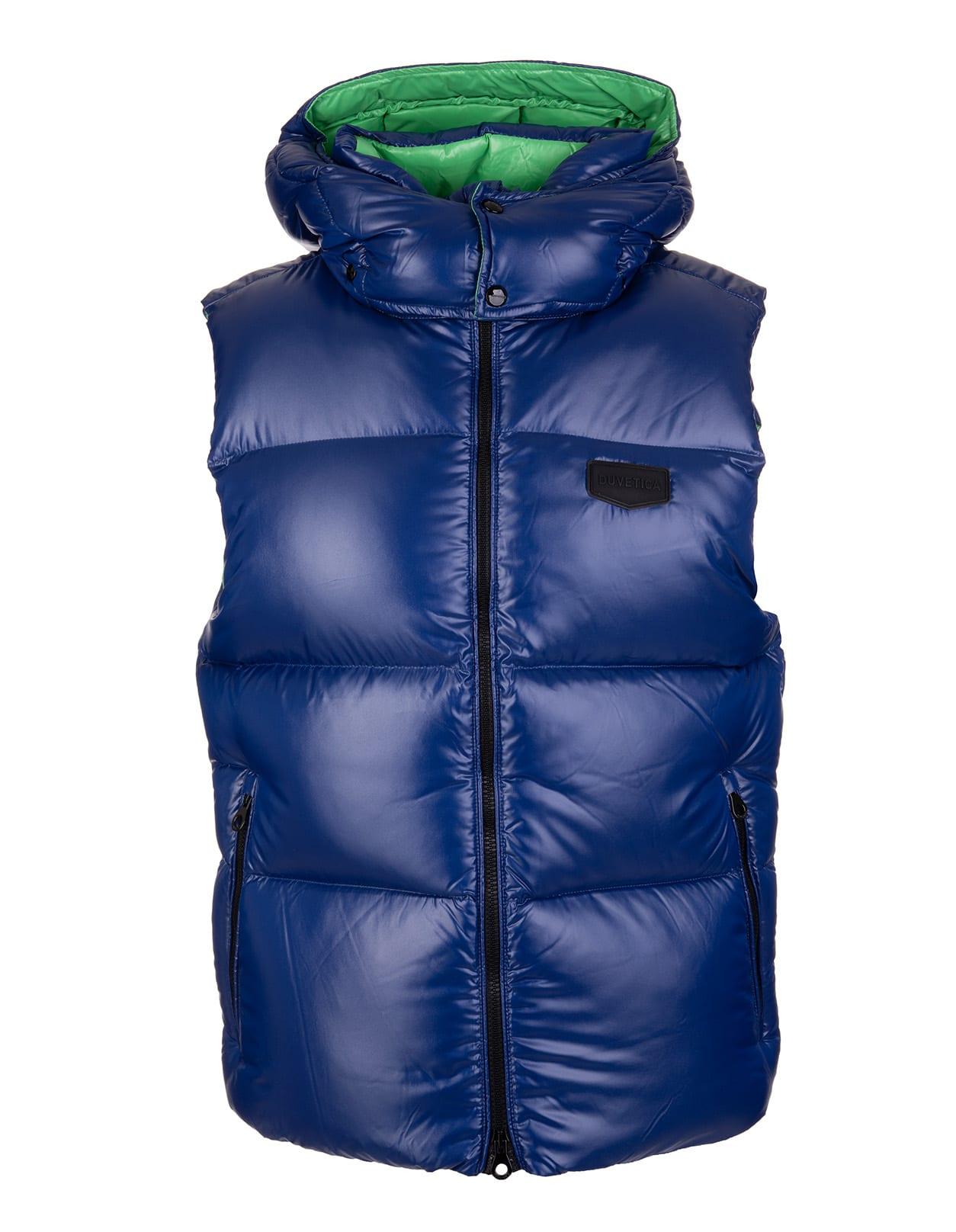 Man Sapphire Blue Salino Sleeveless Jacket