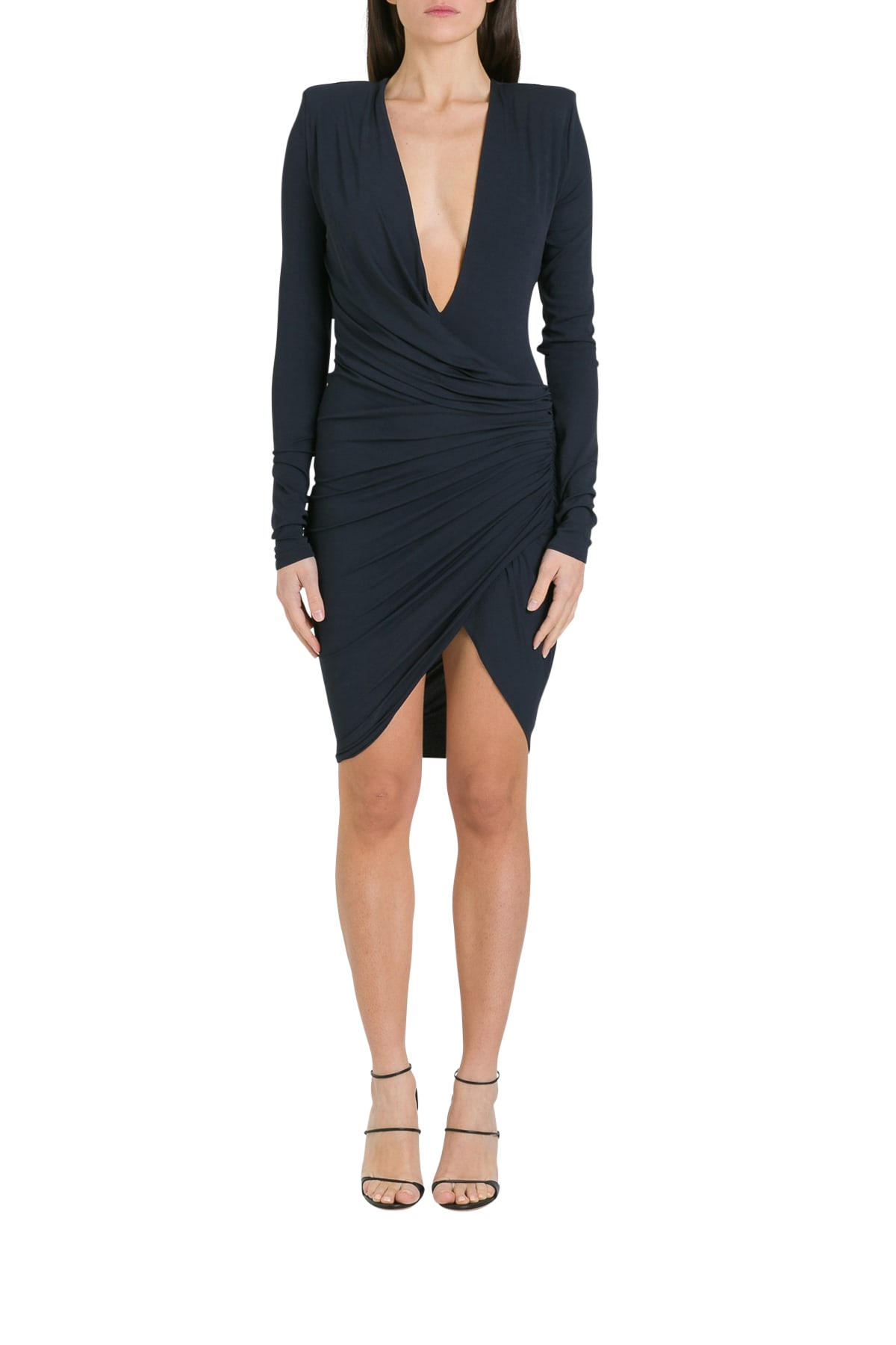 Buy Alexandre Vauthier Draped Minidress online, shop Alexandre Vauthier with free shipping